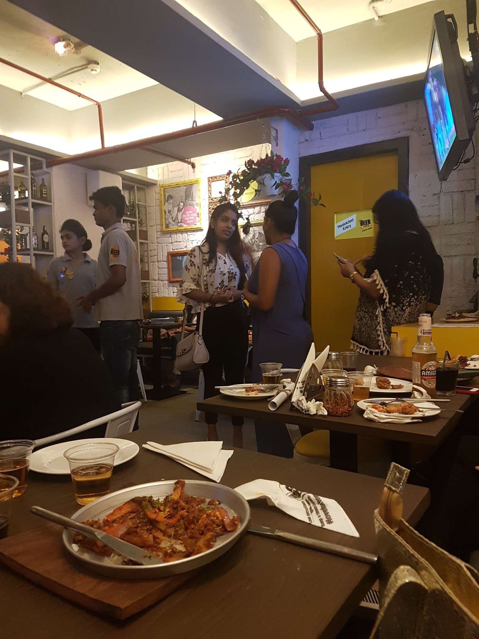 At a Beer Cafe by Pushpa Moorjani