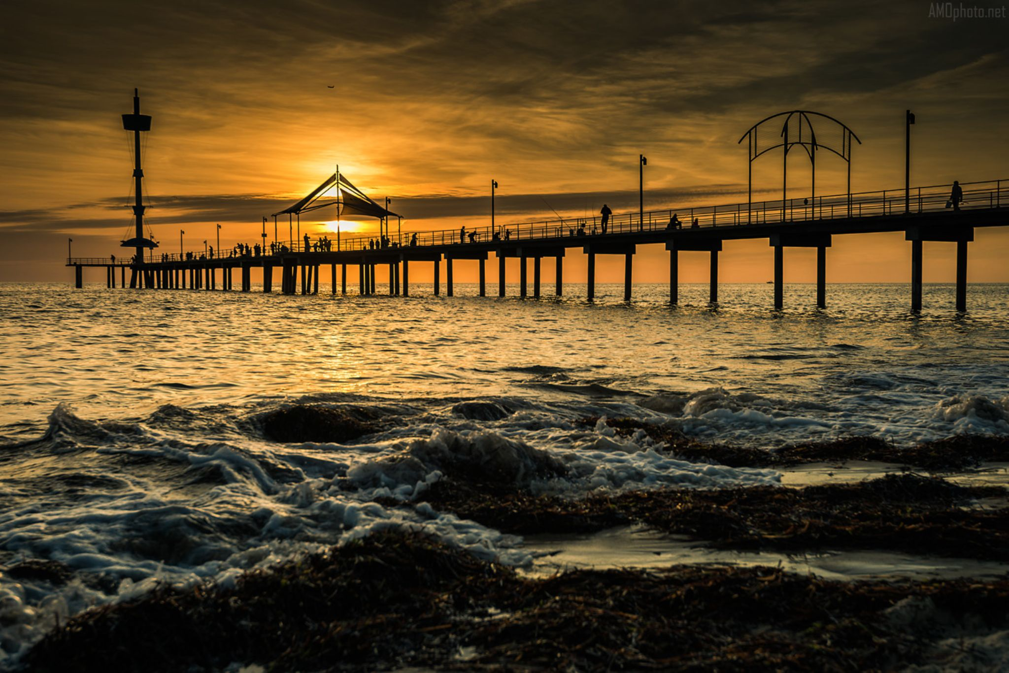 Going home at Brighton Beach Jetty by Andrey Moisseyev Photographer