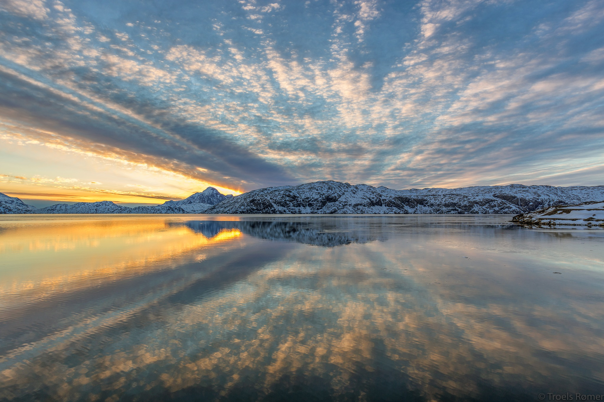 Sunset reflections by Troels