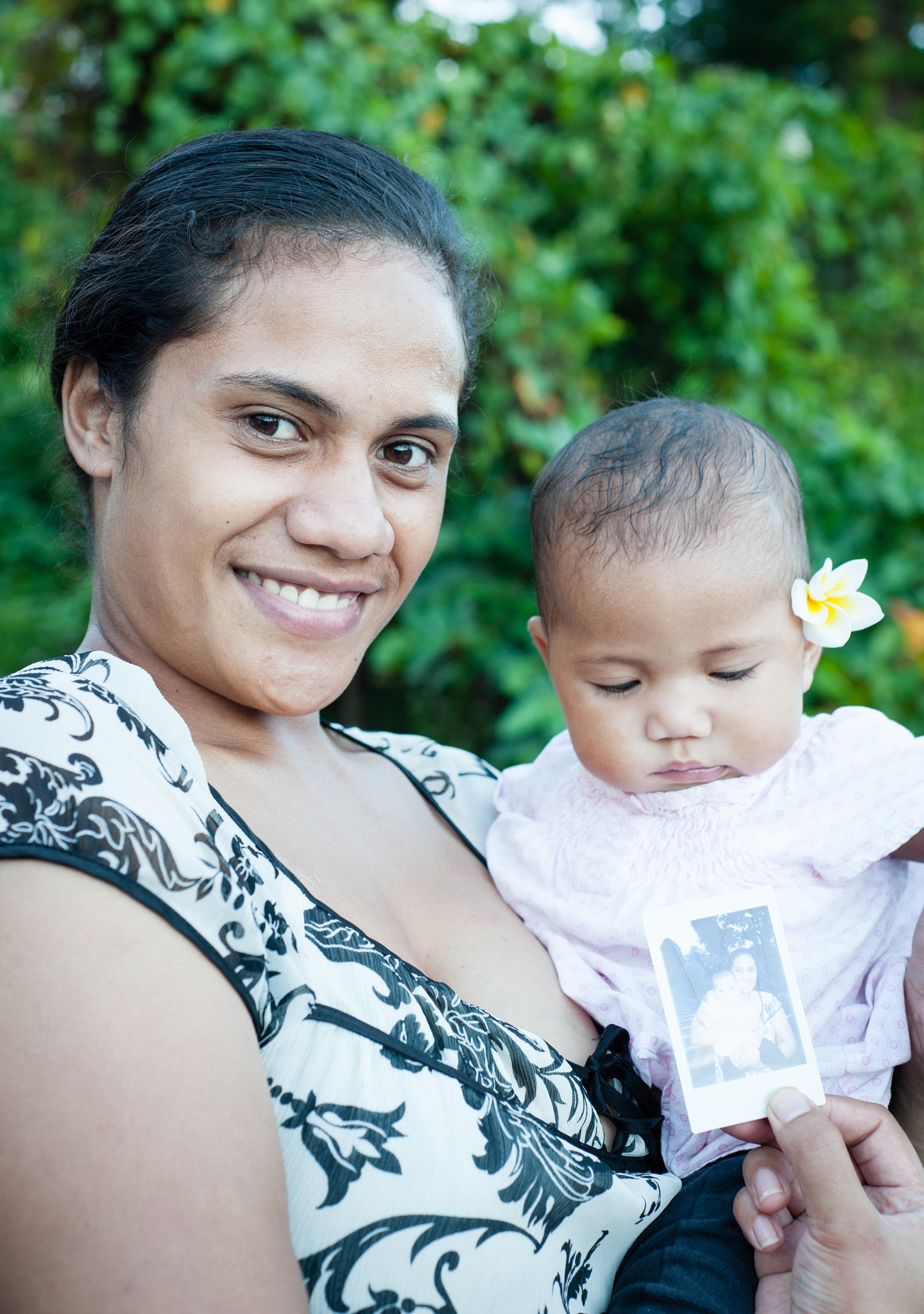 Mother and Child with Instax Print | Levuka | Fiji by DesiccatedLife