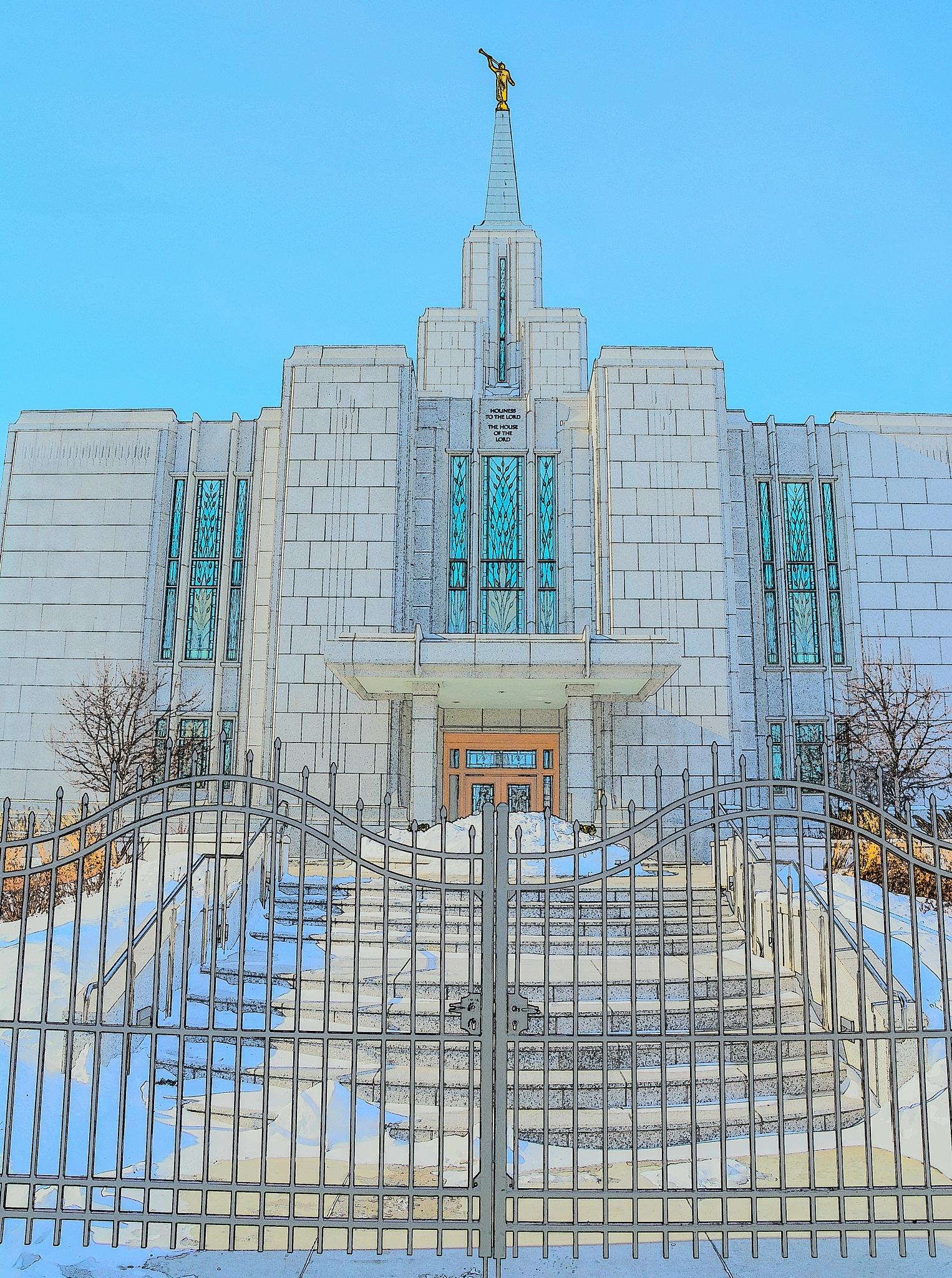 Calgary LDS Temple 10 by SteveRedmond