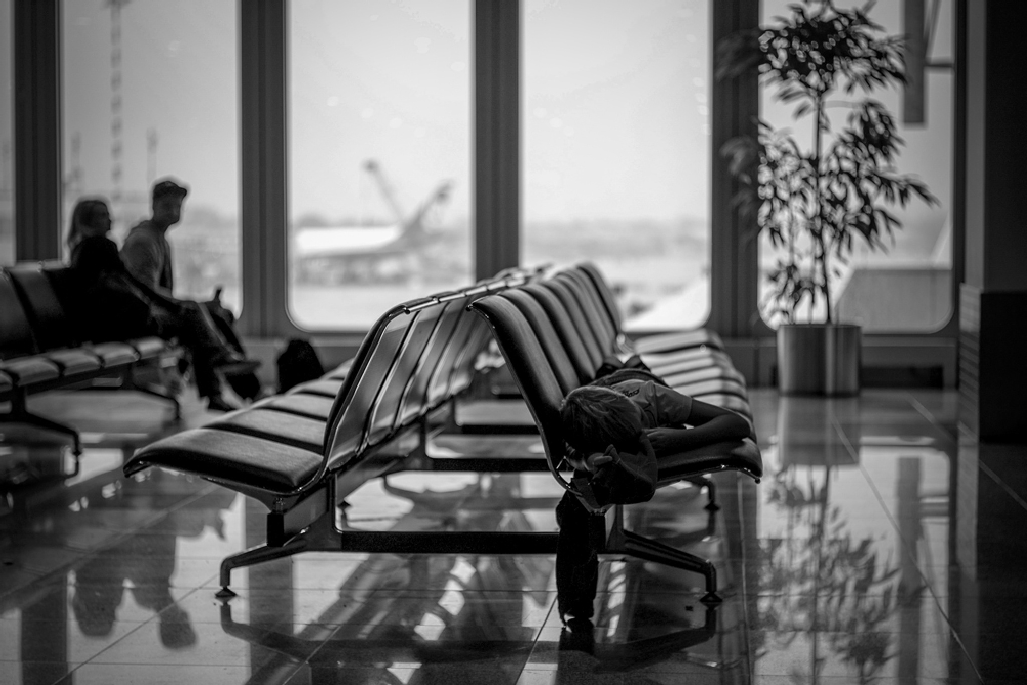 düsseldorf airport and so tired ... by Frank Noethe