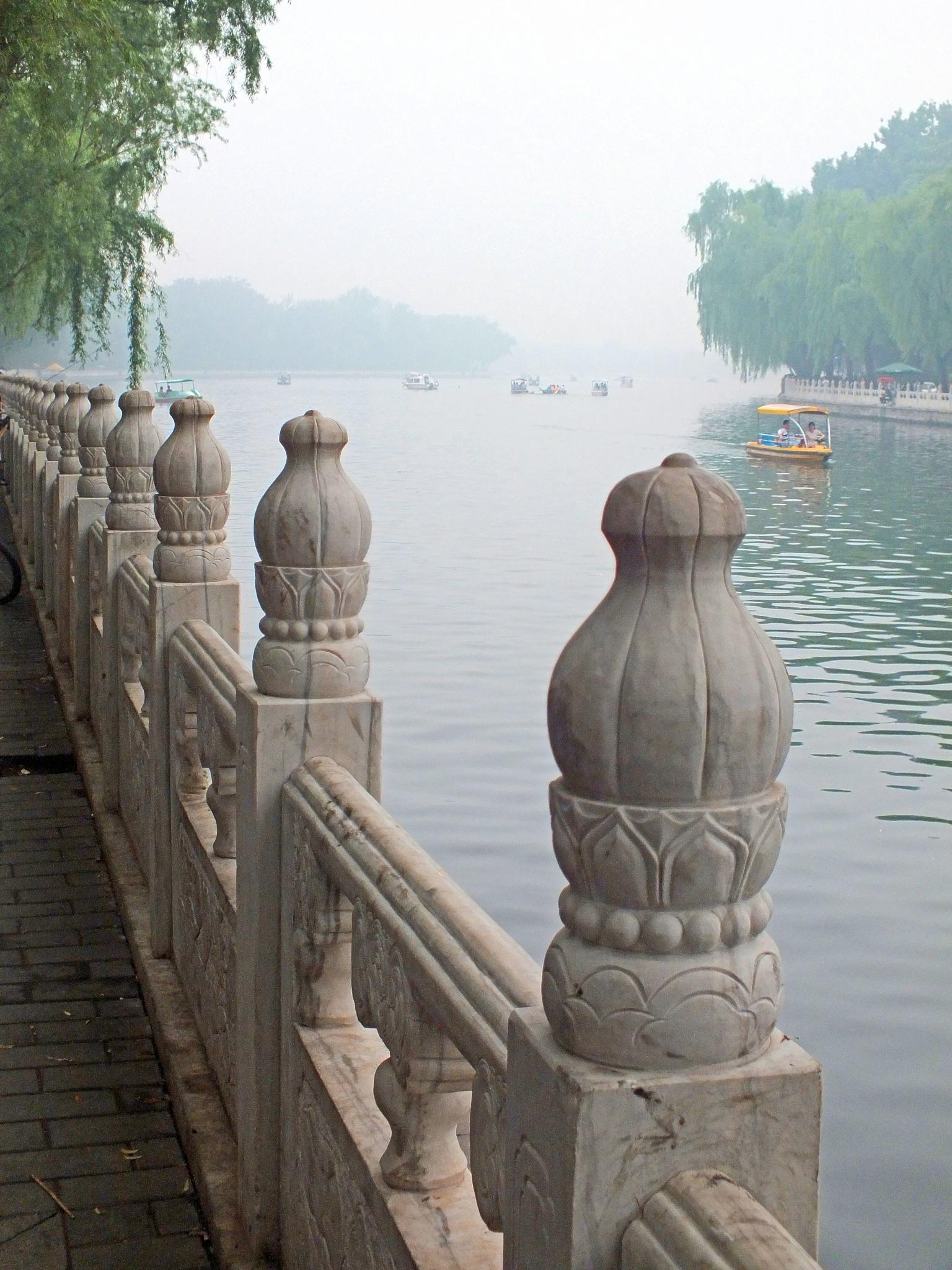 Houhai-Lake in Peking by Helga Kerner