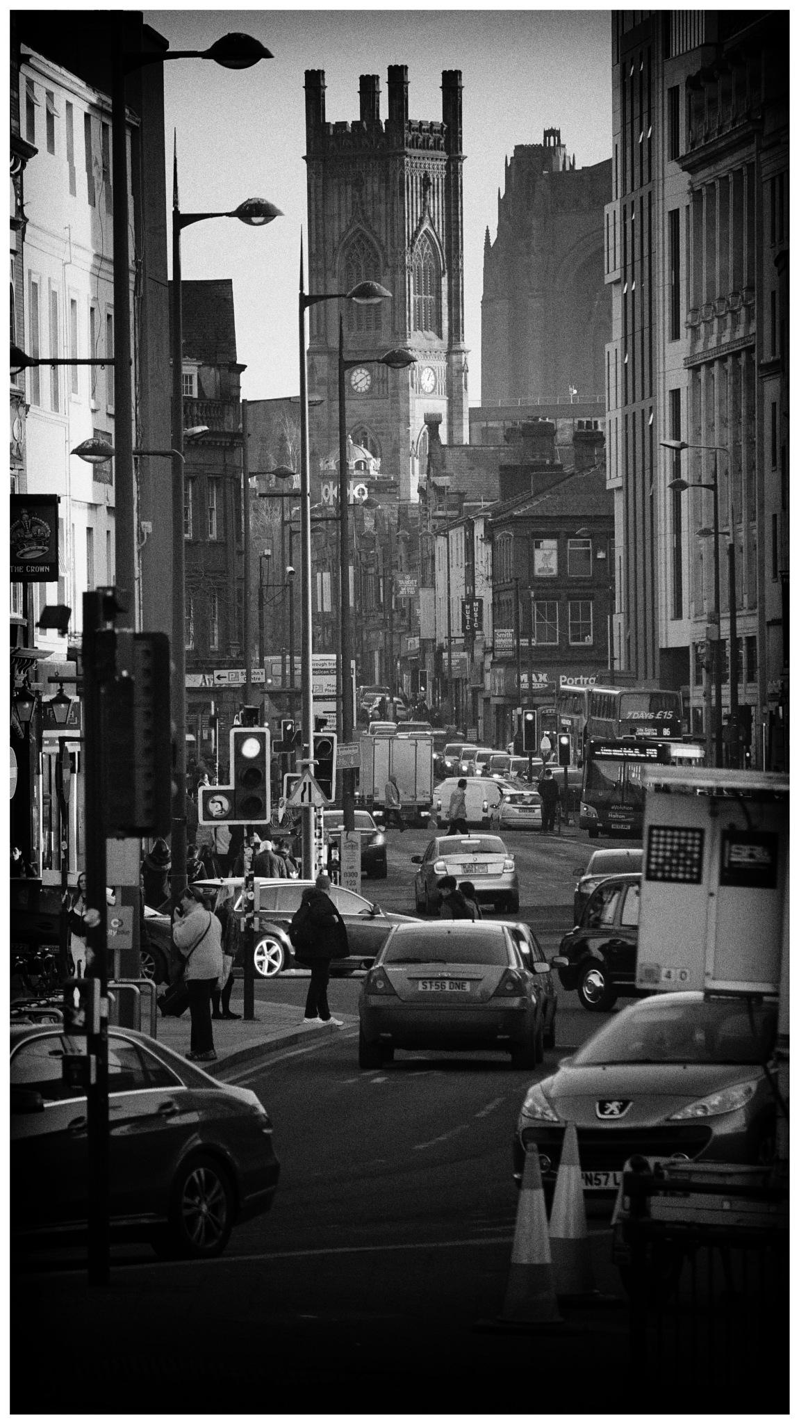 liverpool, uk, bustling street. by Robert Beattie