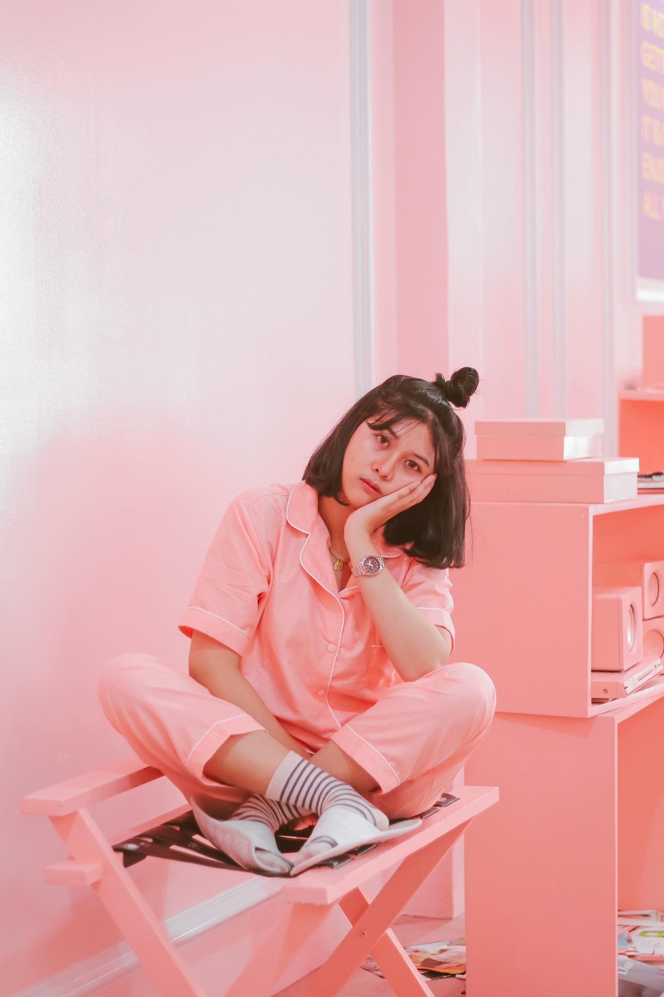 Photo in Portrait #portrait #women #girl #pink #people