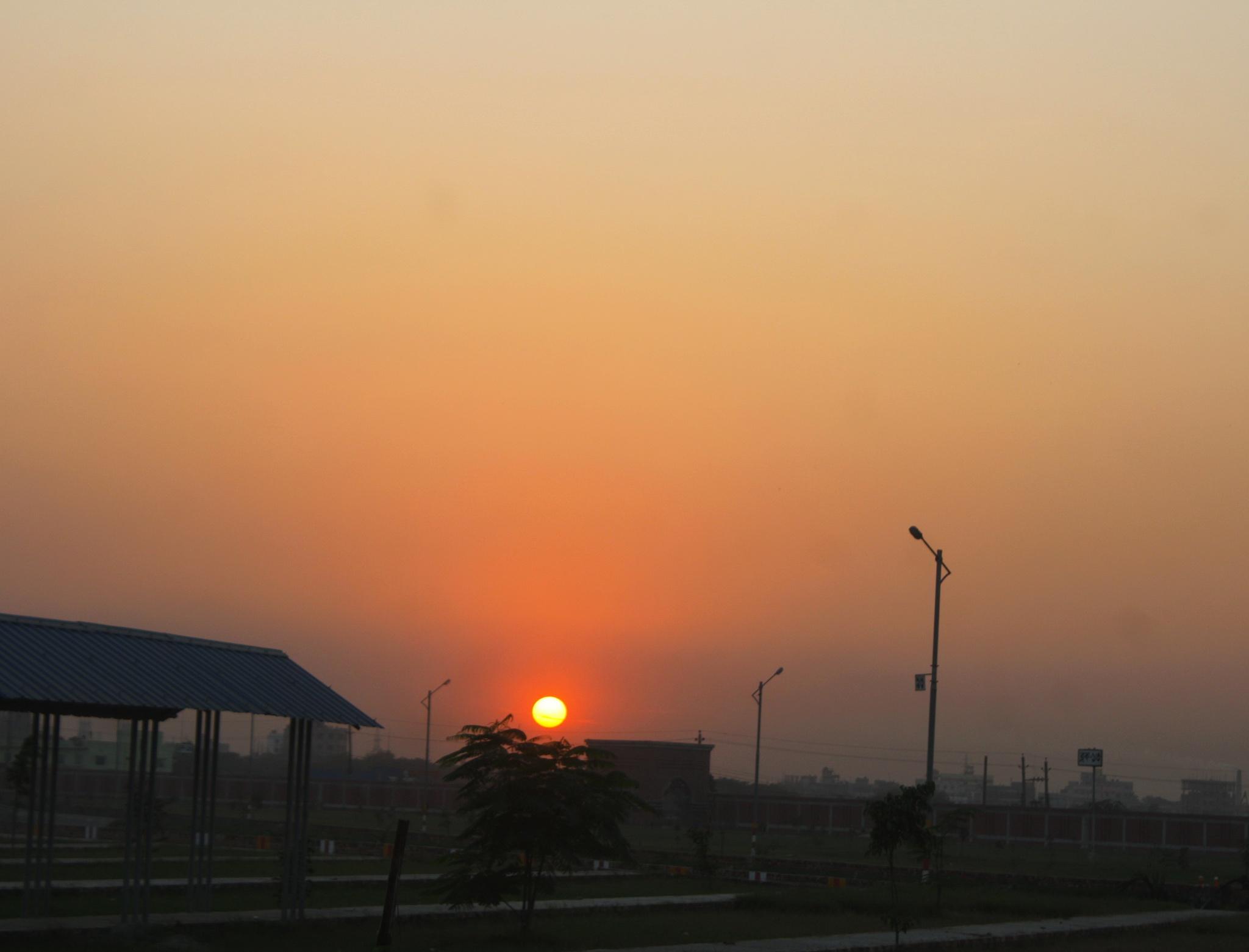 Sun Set Scene by ShyamalKBanik