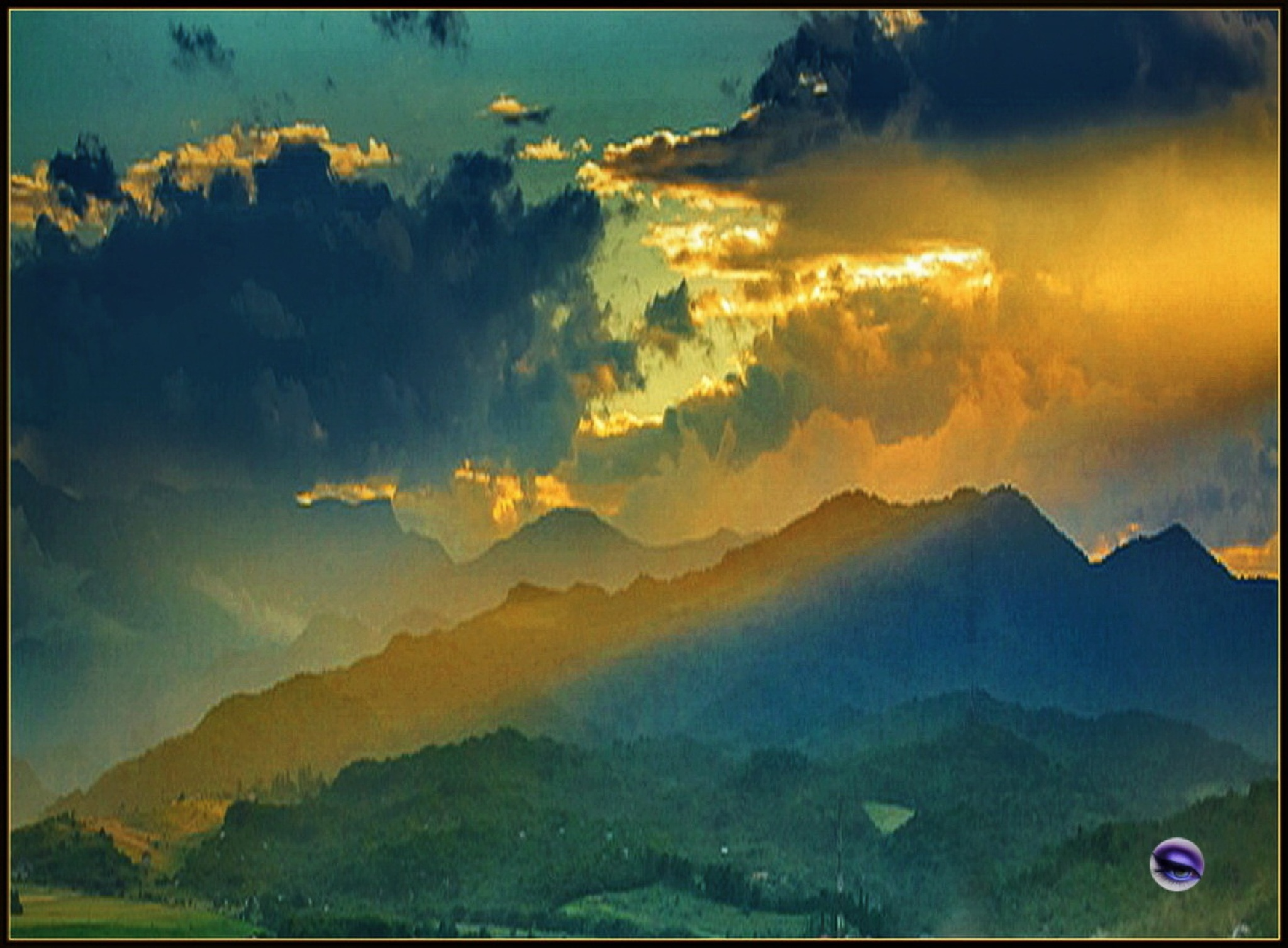 COLORED CLOUDS OVER BEAUTIFUL MOUNTAINS by ShyamalKBanik