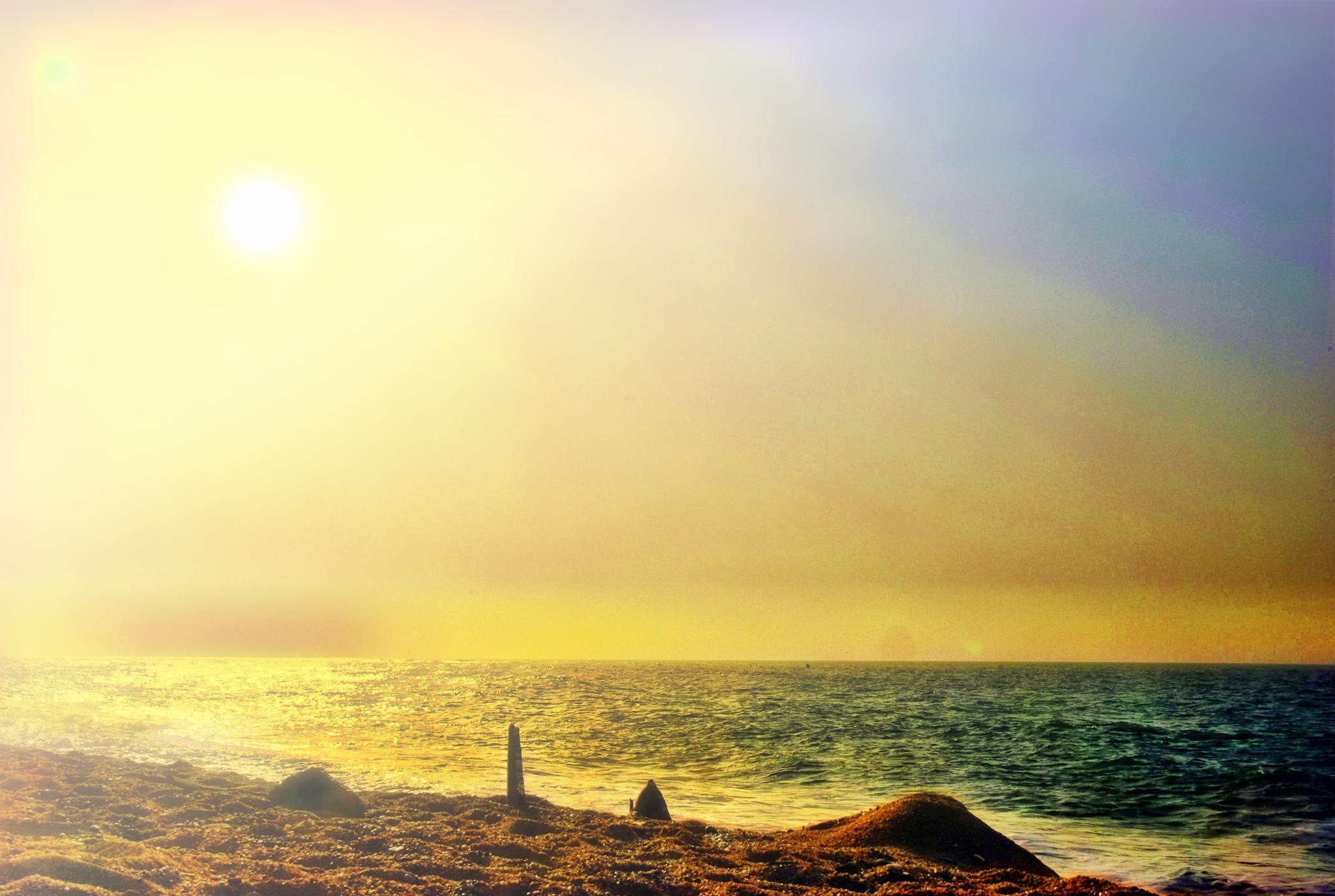 Afternoon in the beach by Aker