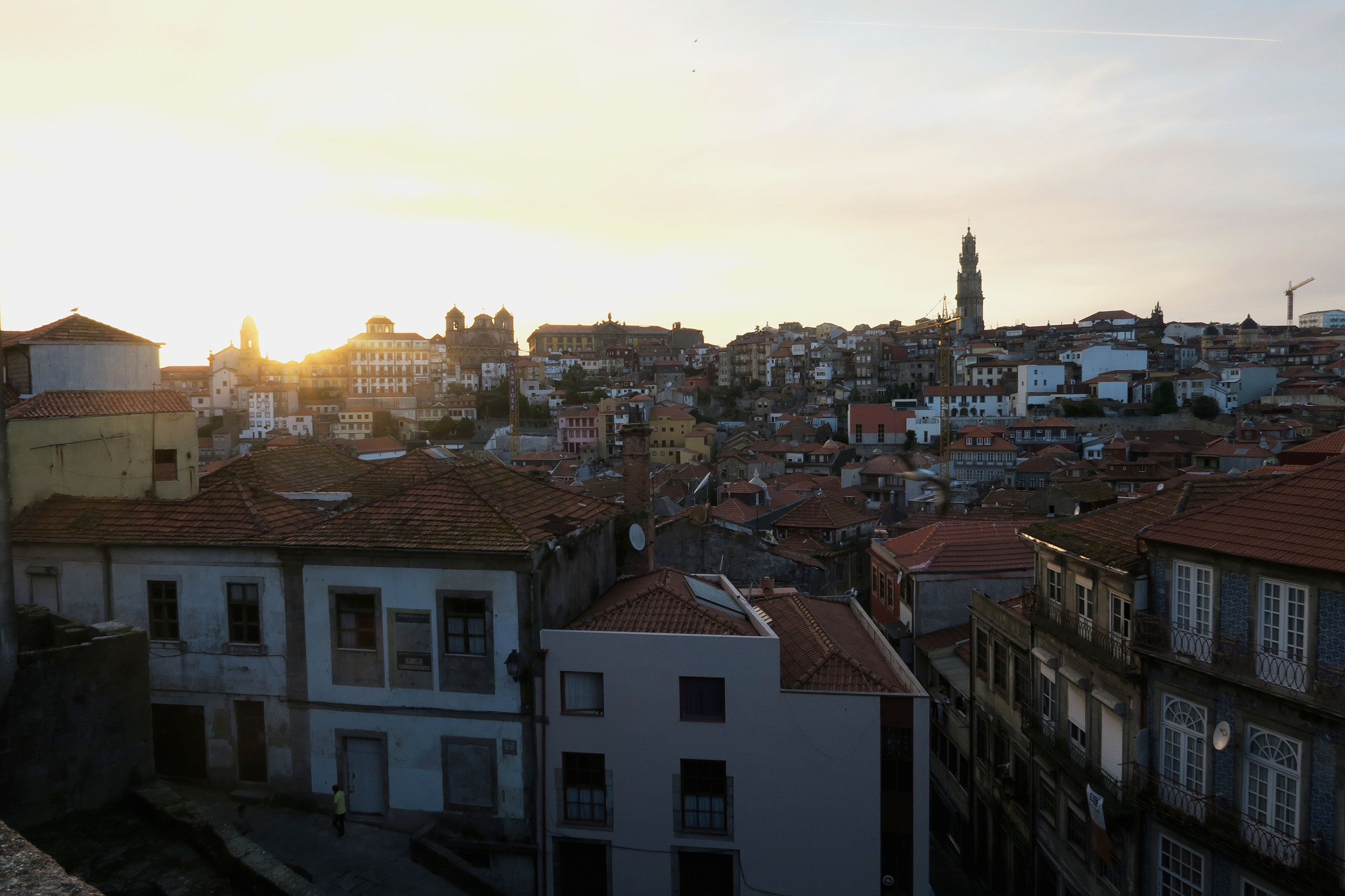 Sunset on the city of Porto by frommorgane