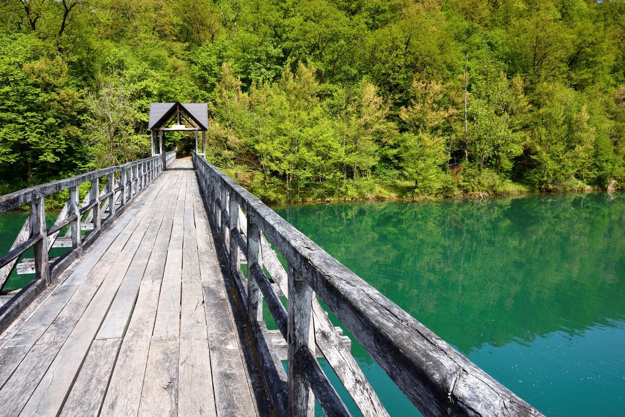 Wooden bridge by Aleksander Jakša