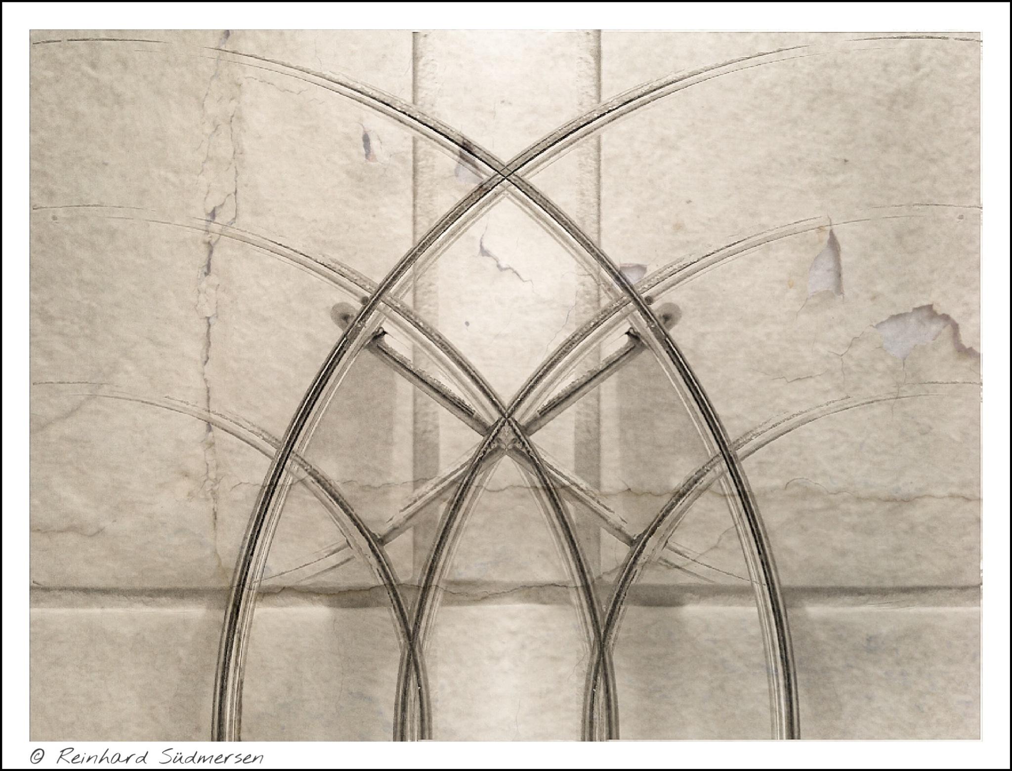SKETCHED GOTHIC ARCHES by Reinhard Südmersen