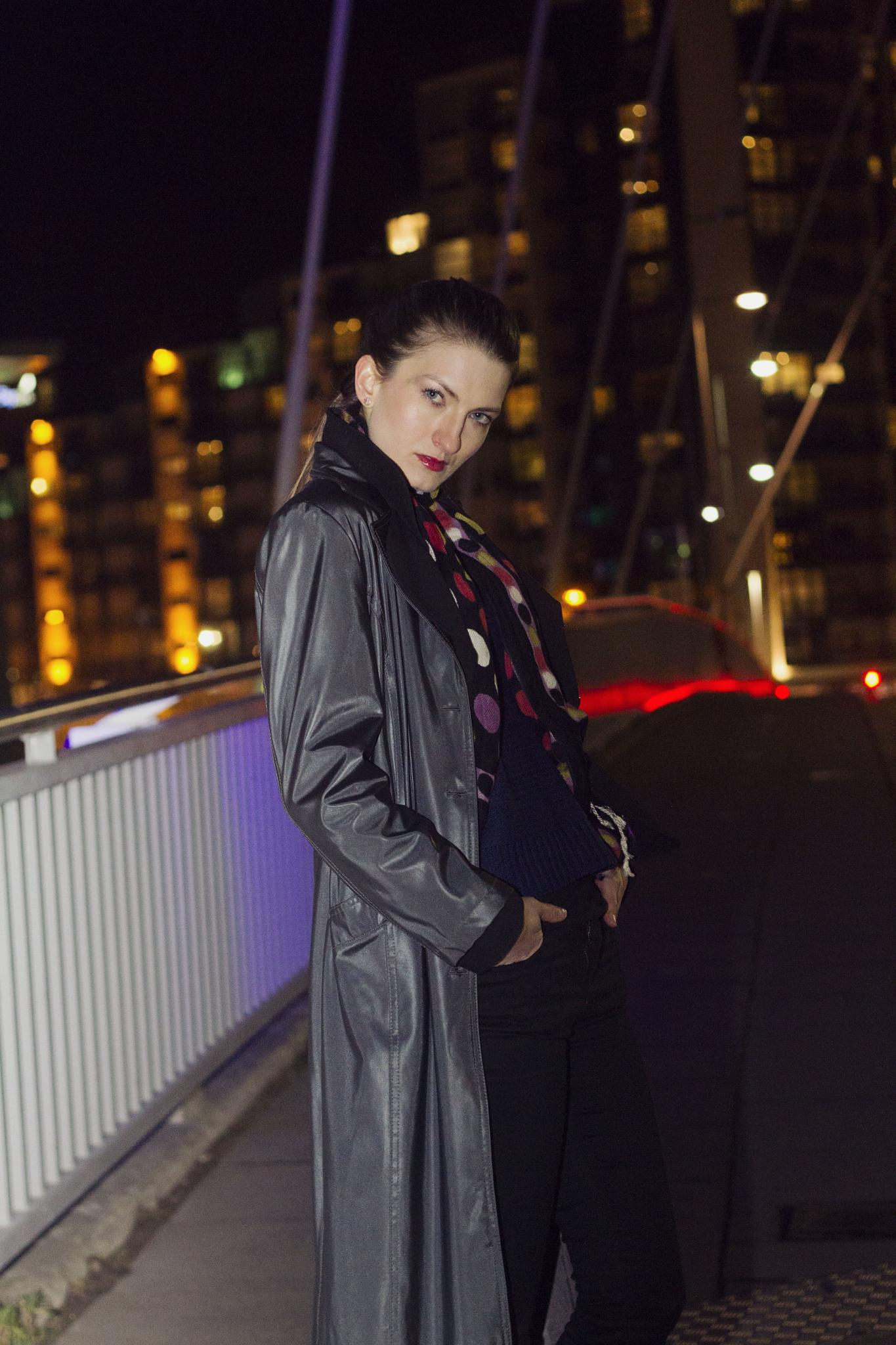 Photo in People #night photography #night #shoot #glasgow #model #cold #winter