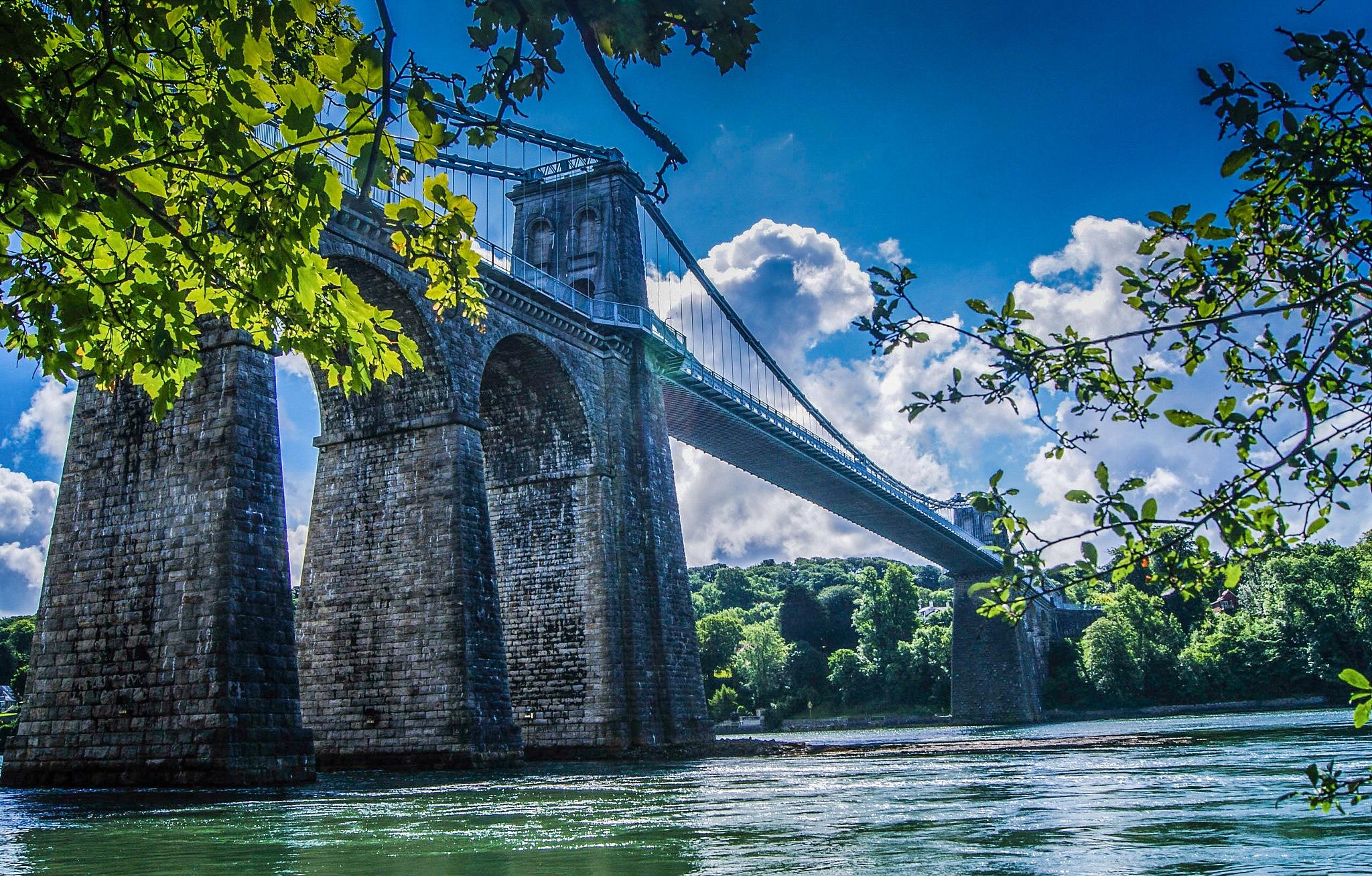 Menai Bridge Suspension Bridge by rfoulkes