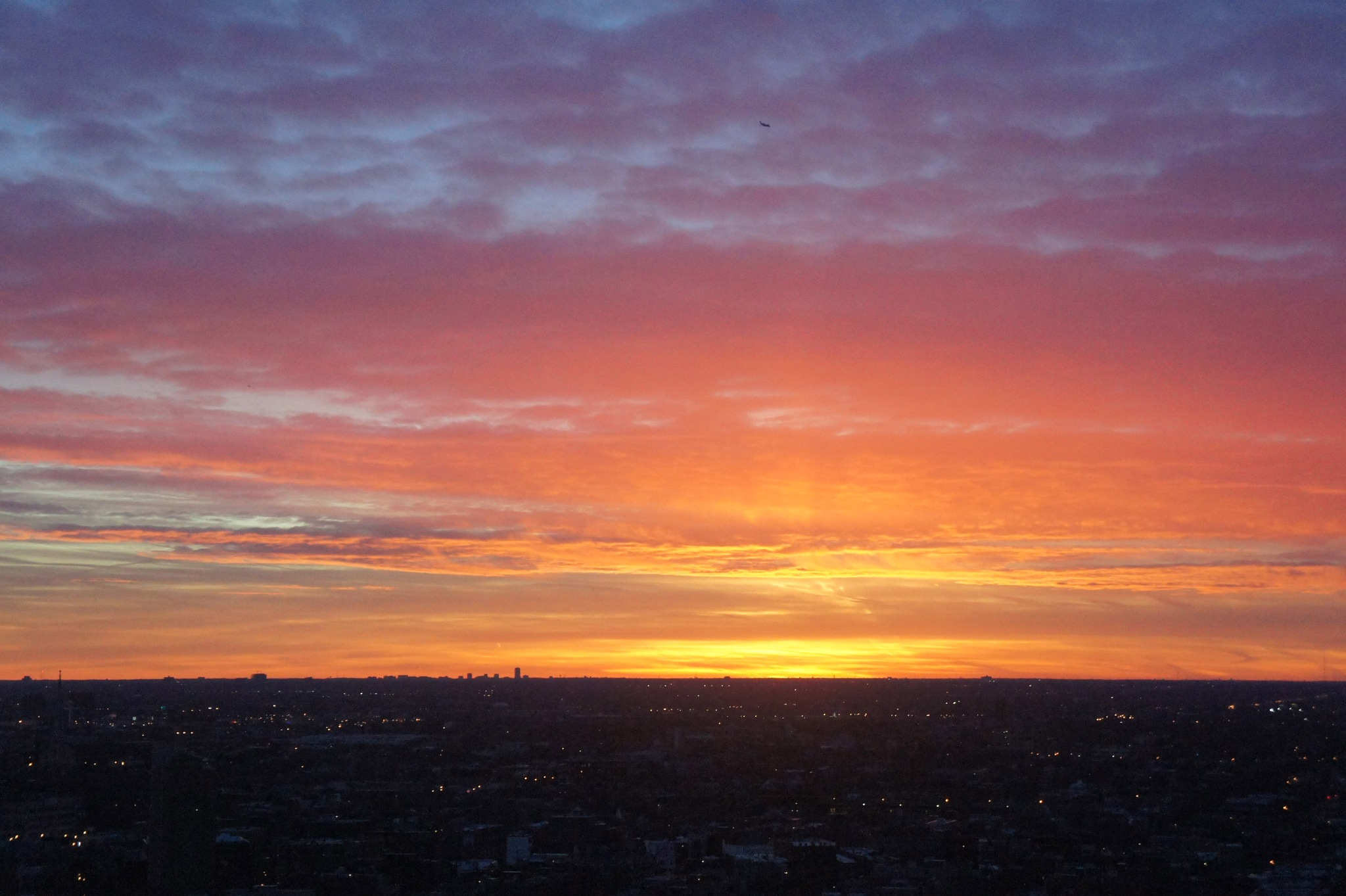 Sunset Unfiltered, Chicago, Feb. 15, 2017 by BobBenenson