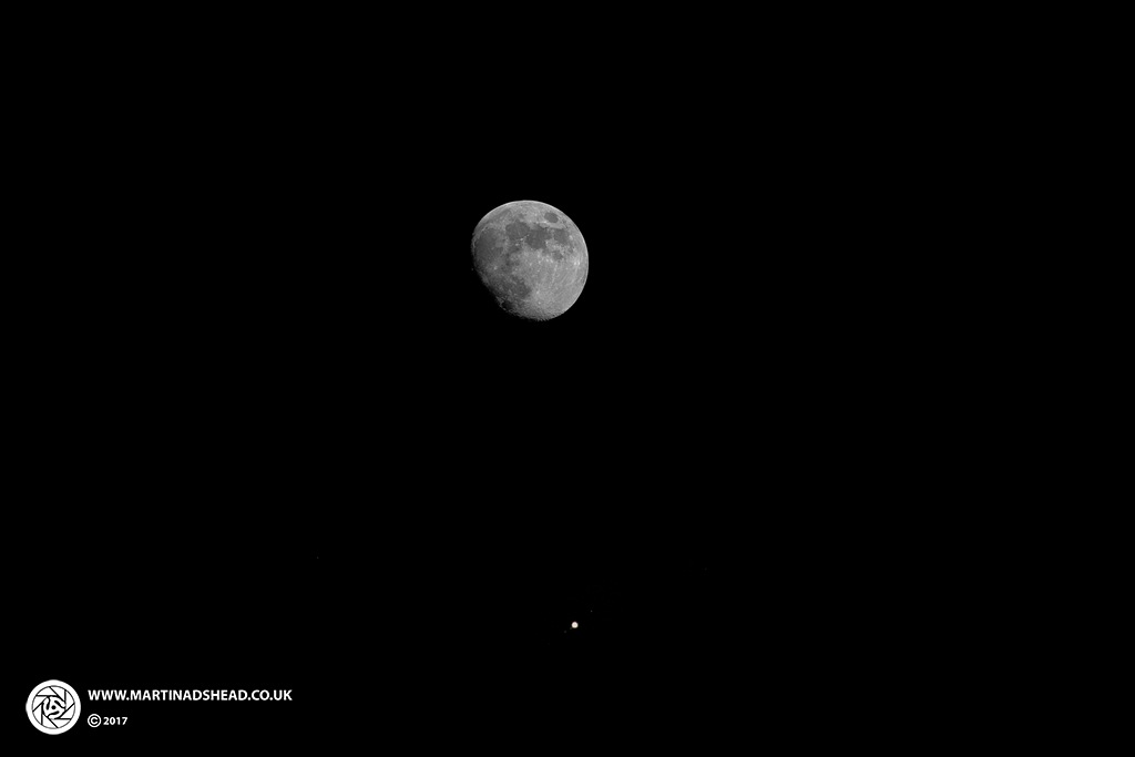 Moon And Jupiter 070517 by Martin Adshead