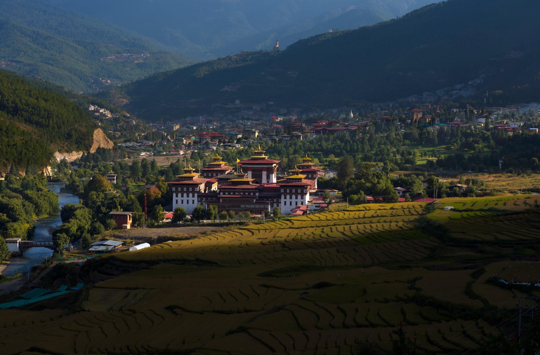 Thimphu Dzong  by Adarsha Bhutan Tours and Treks