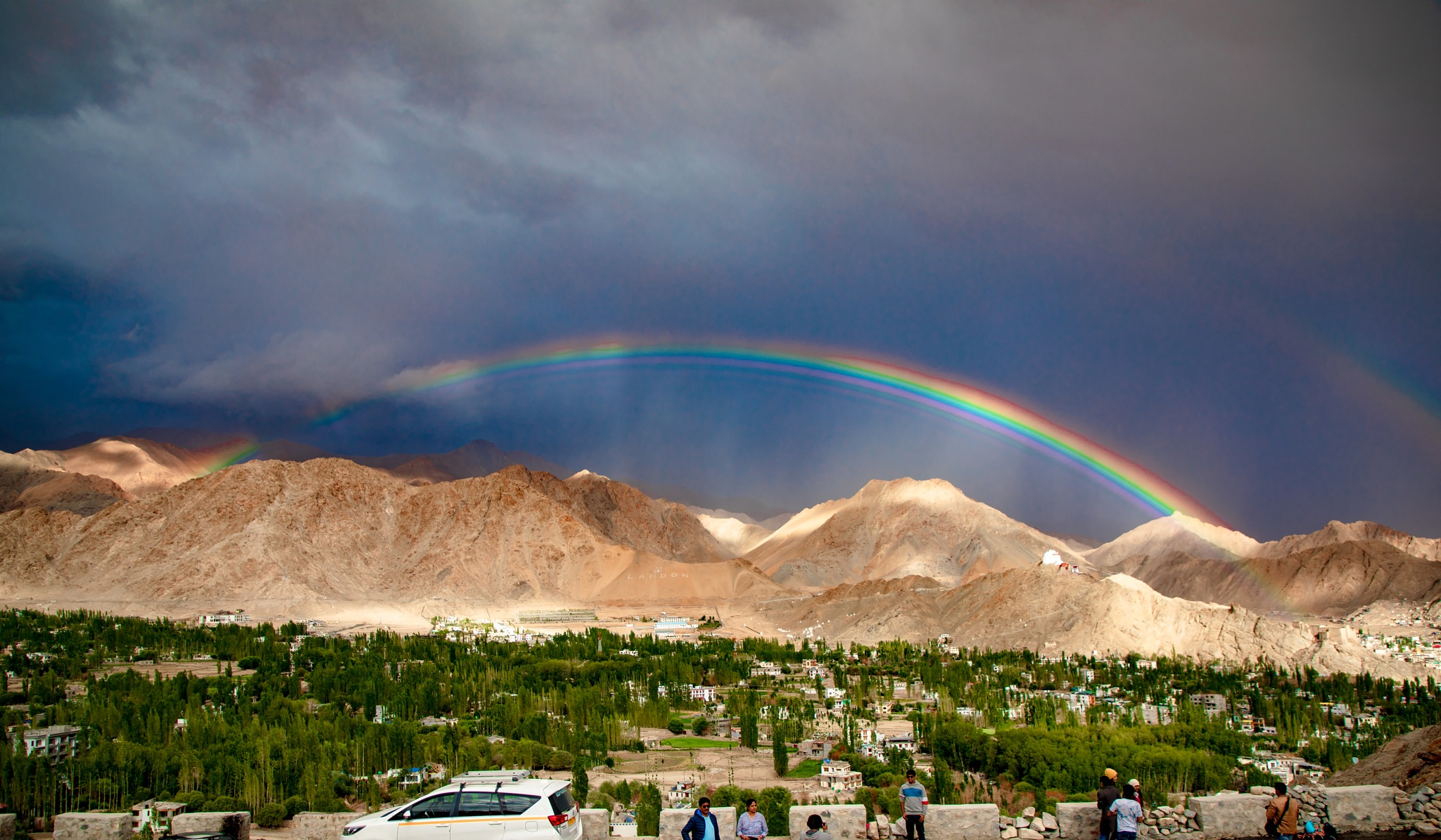 Rainbow by Pelican