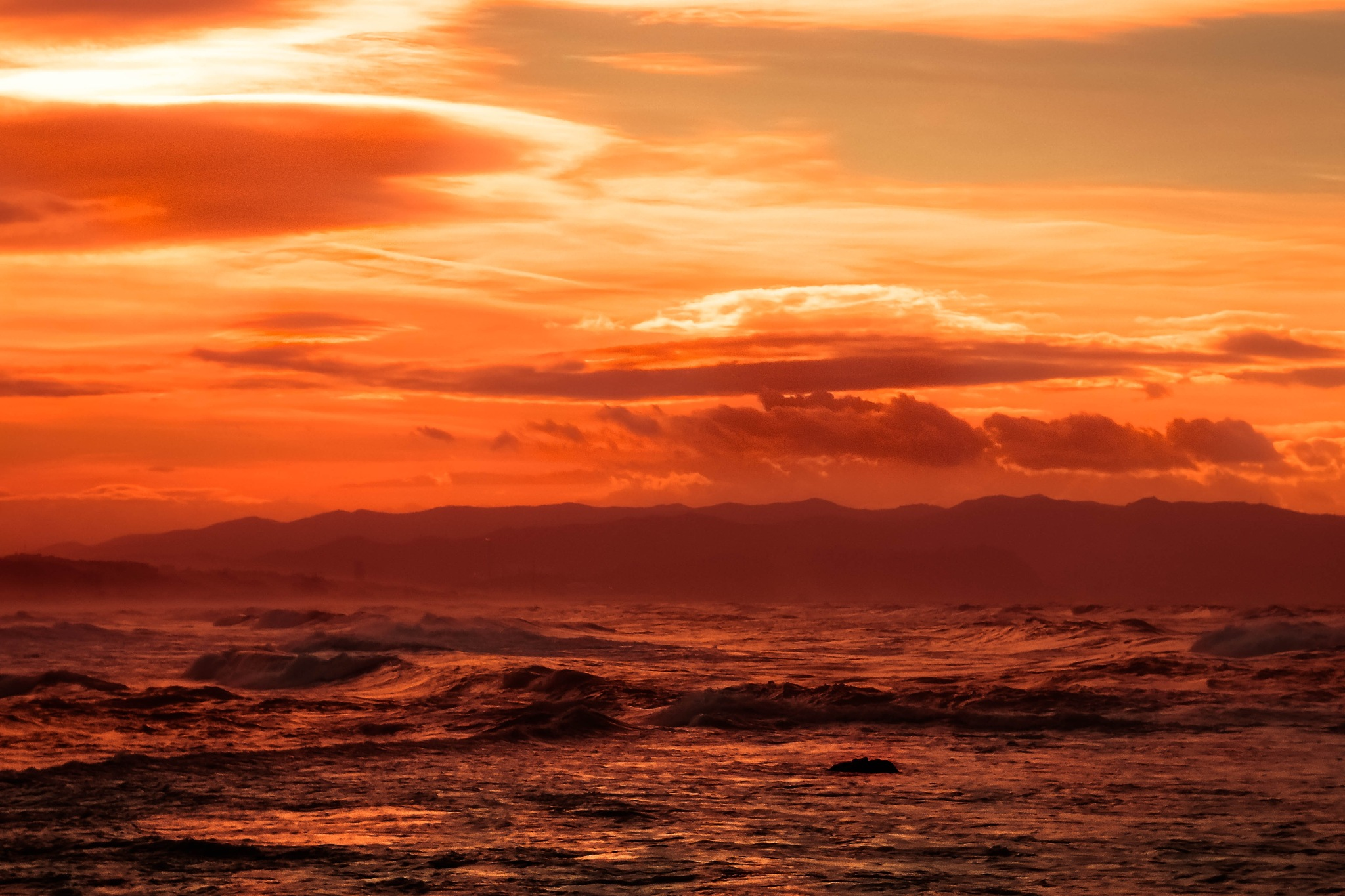 Orange sunset by Wounded Man
