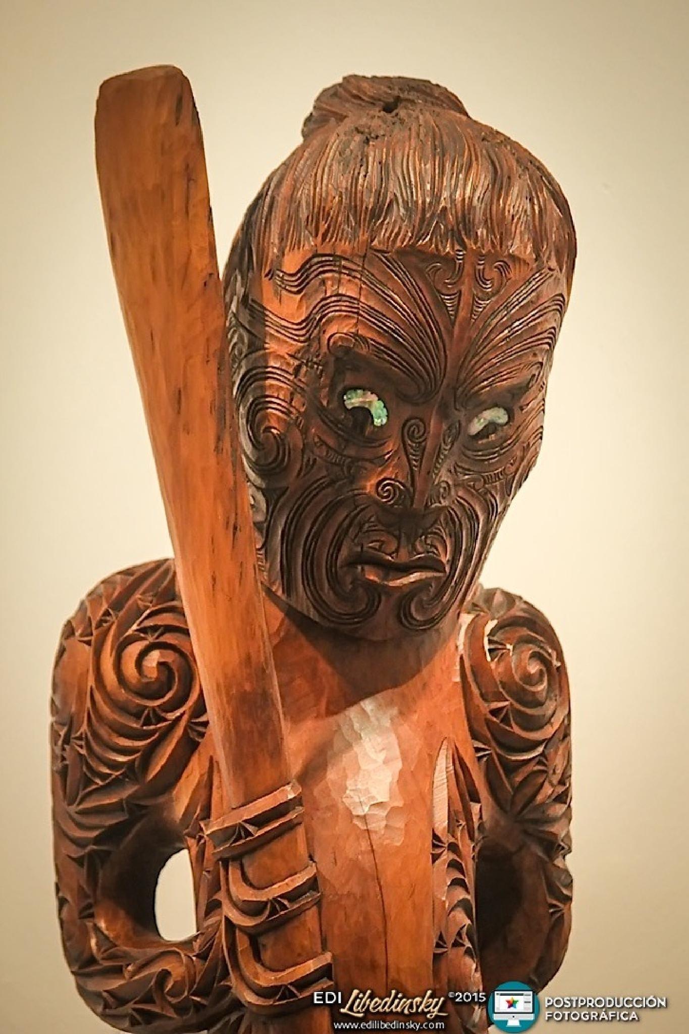 Arte Maorí en la Usina del Arte - 2015 © Edi Libedinsky by Edi Libedinsky