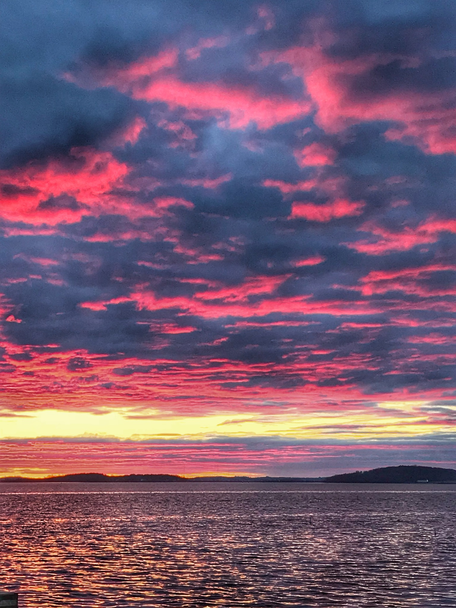 Red sky at night by Ann