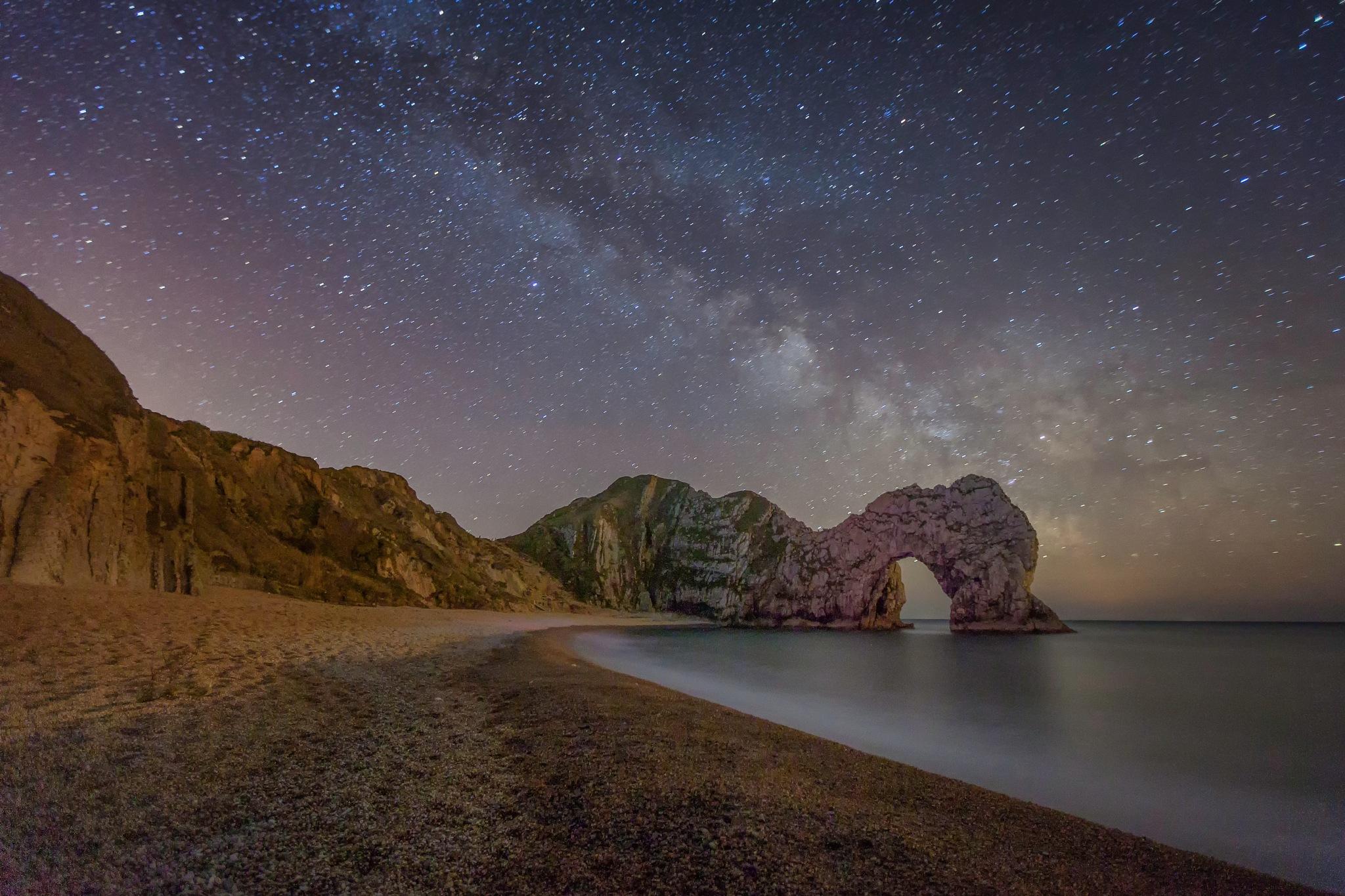 Durdle Door under the Milky Way  by Chris Deane