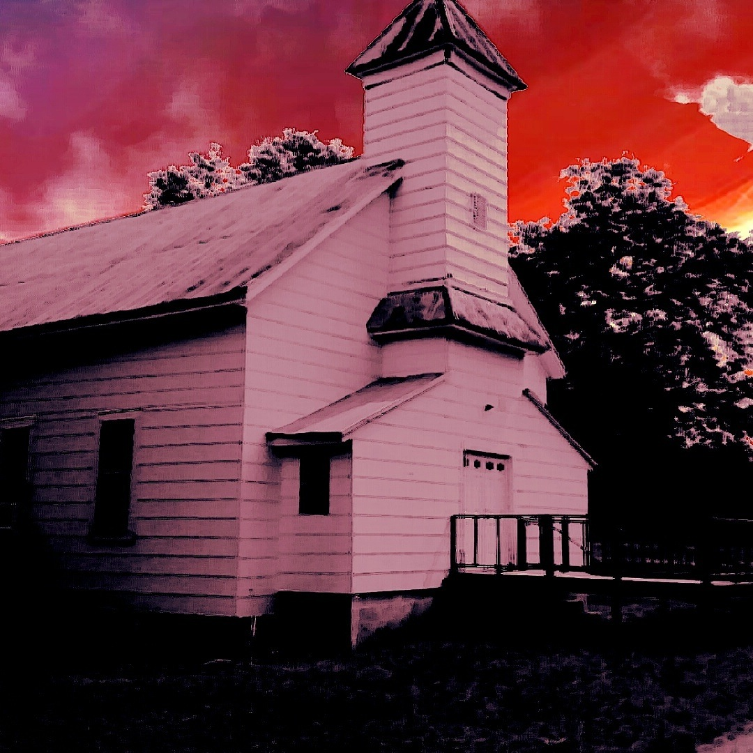 Dirt road ole church in GA by Valerie A Bedsole