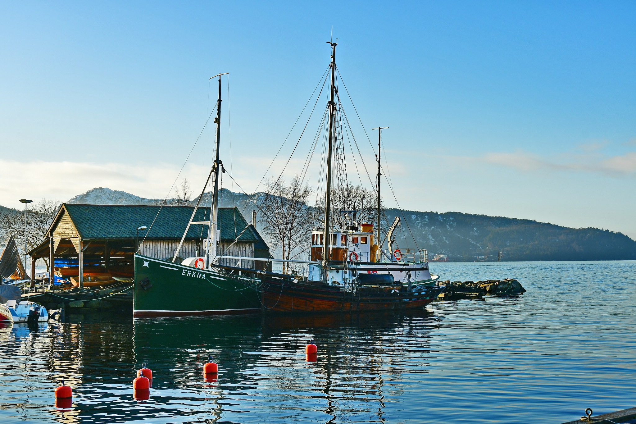 Photo in Random #sandviken #bergen #boats #kristianholm #fotoperm19