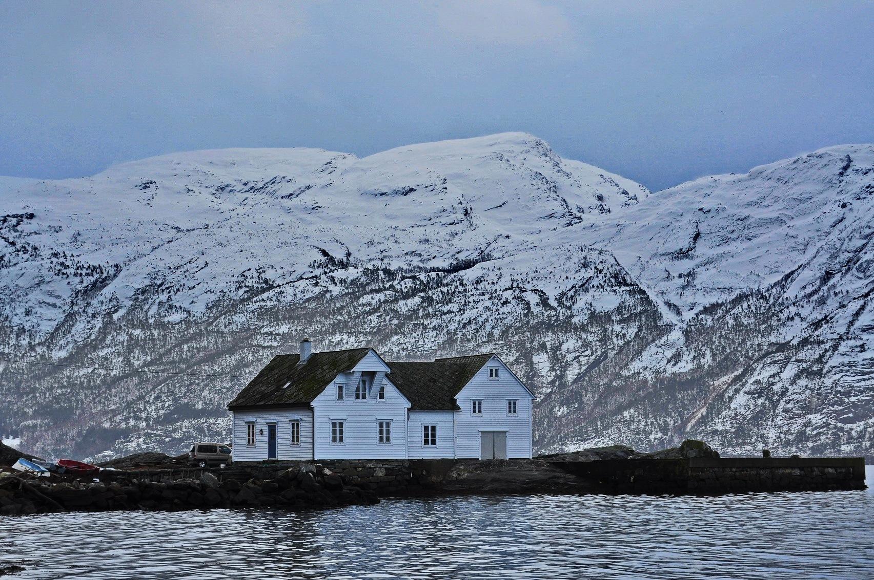 Wintertime at the Hardangerfjord by Per Molvik