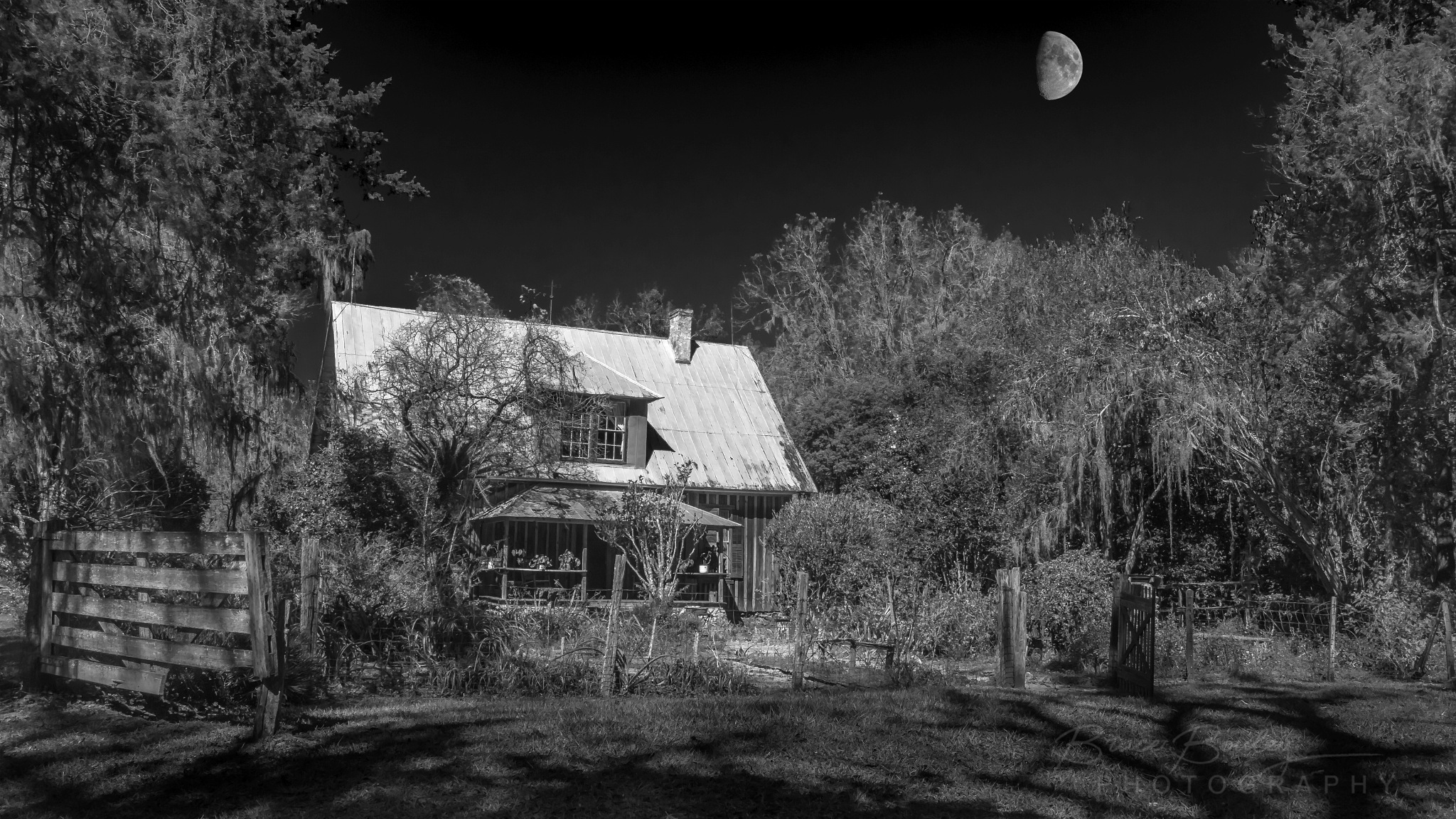 The Old Farm by Moonlight by bruce7485