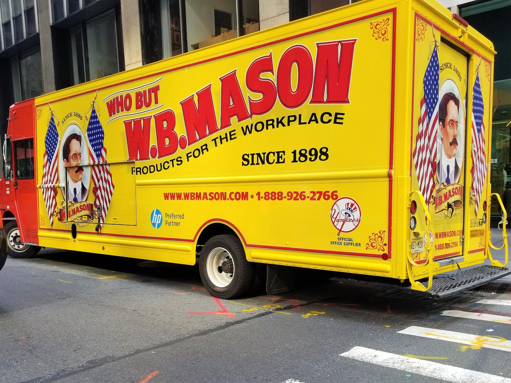 Patriotic WB Mason Truck, New York City, New York by Sheri Fresonke Harper