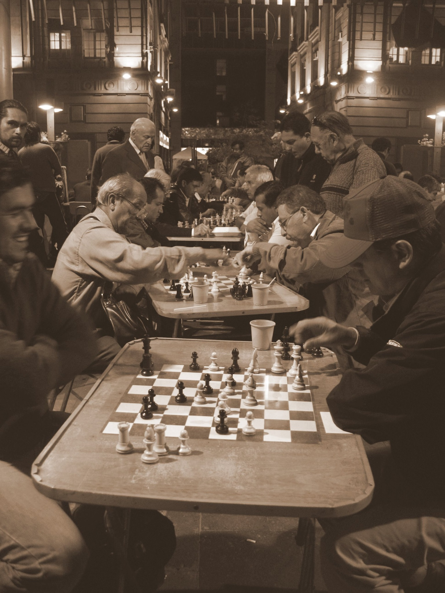 Chess in the main square, Santiago by adolfootarola