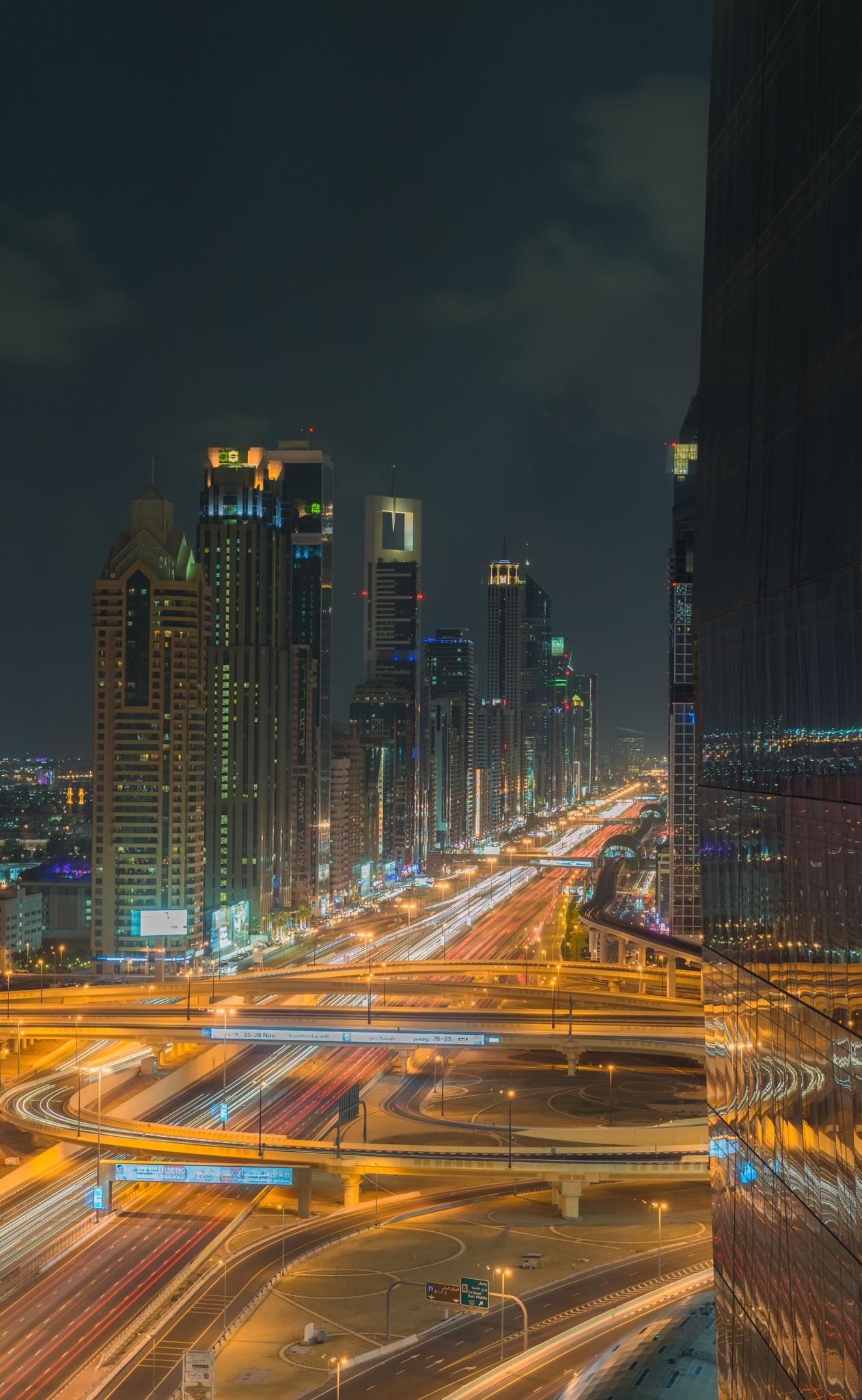 Dubai Intersection by Ashley Kydd