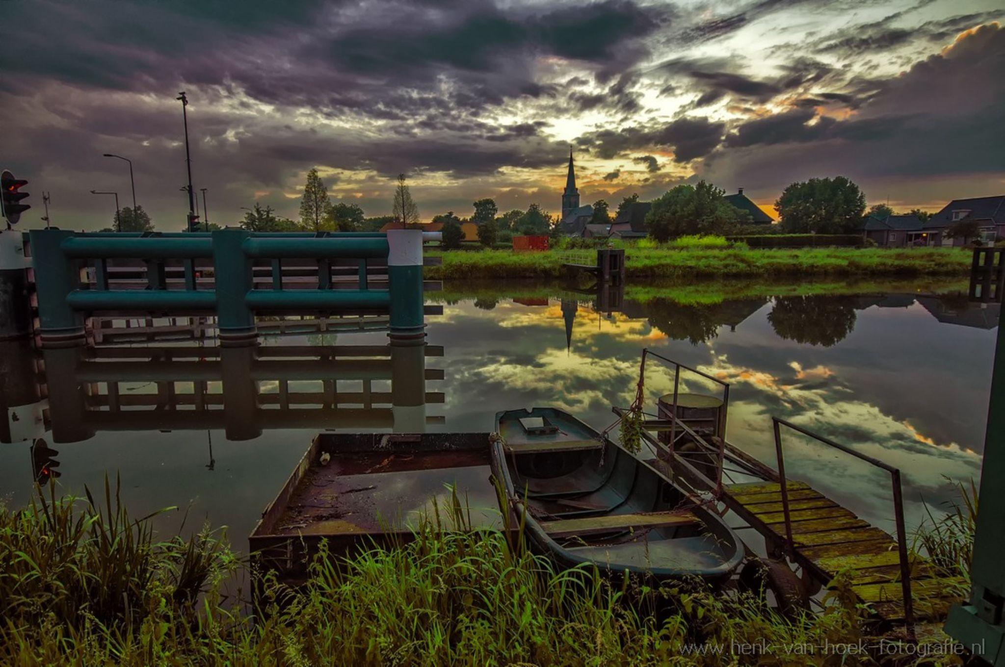 very nice sunset by Henk van Hoek