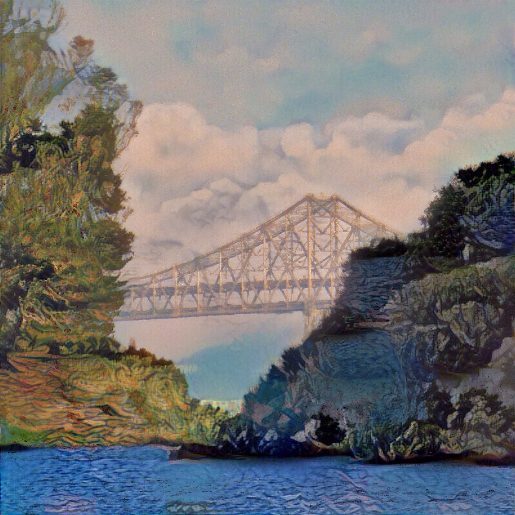 Richmond Bridge-hills by Michael Brunsfeld