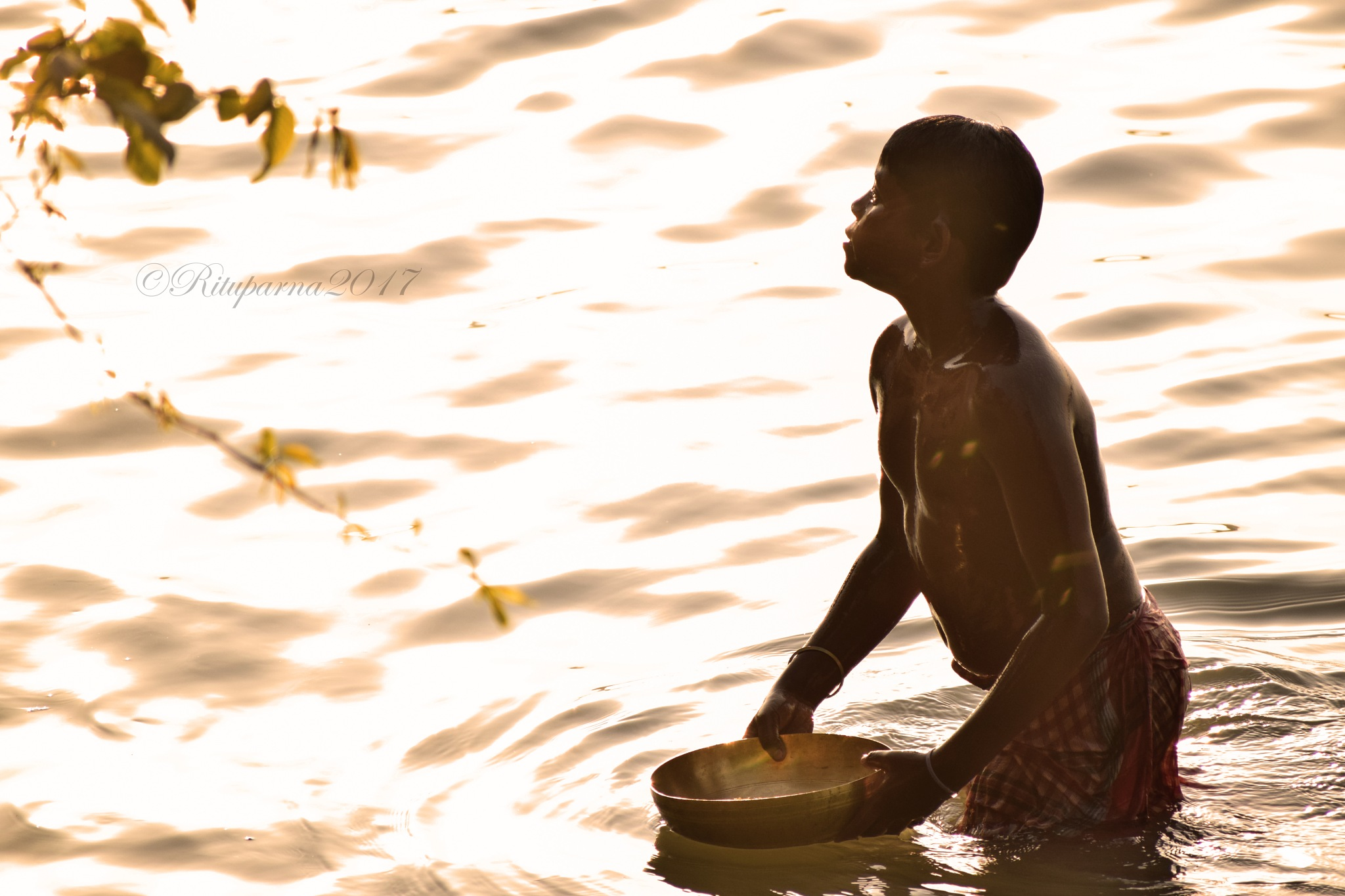 ~ The Boy Who Loves to Bathe in Evening Sun ~ by Rituparna Sarkar