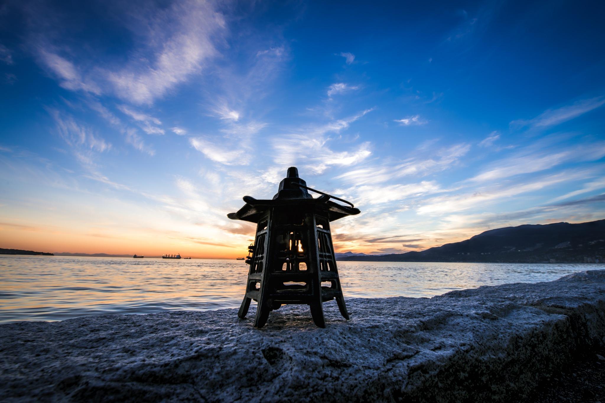 lantern sunset by AlexL Photography