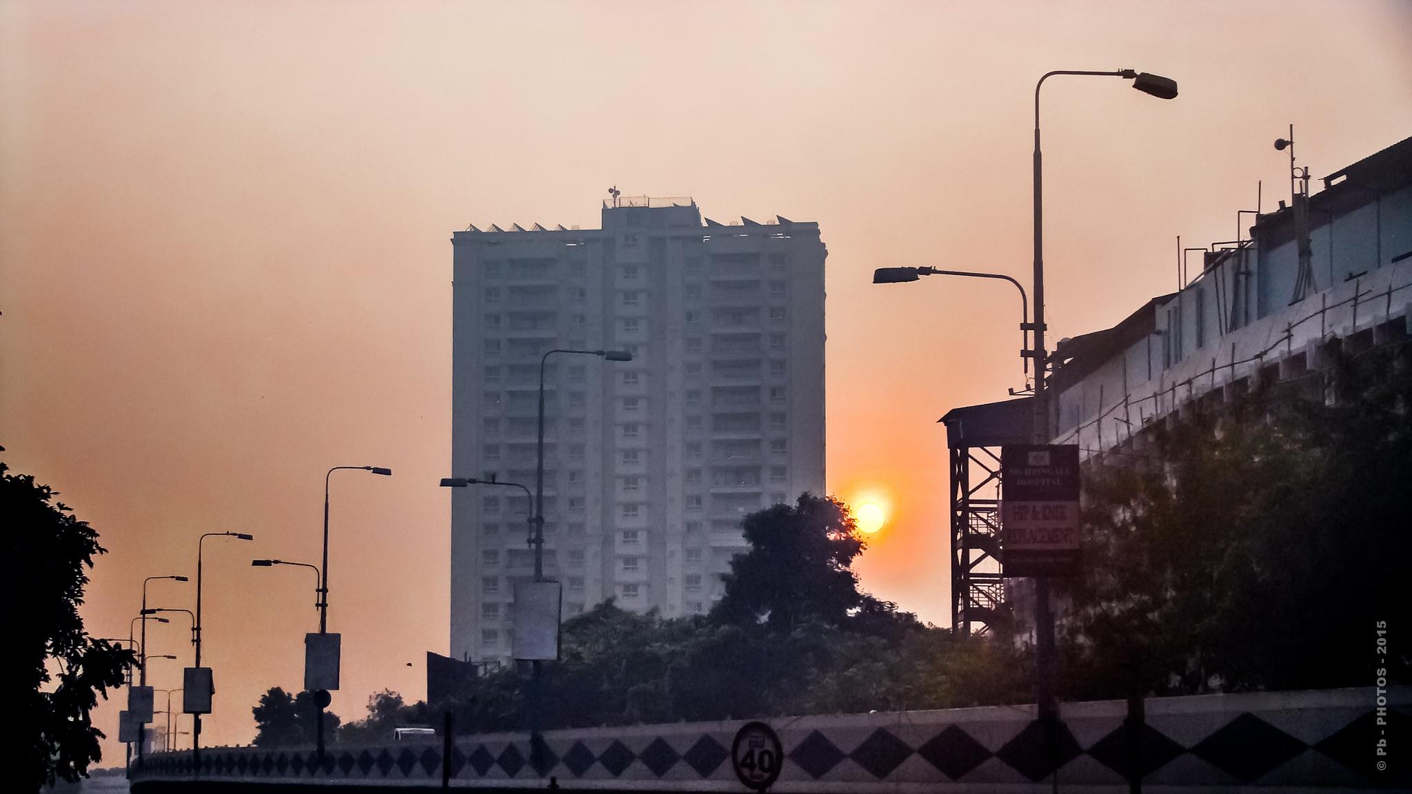 298 - MORNING HOUR CITYSCAPE - KOLKATA - CITYSCAPE by Pb - PHOTOS