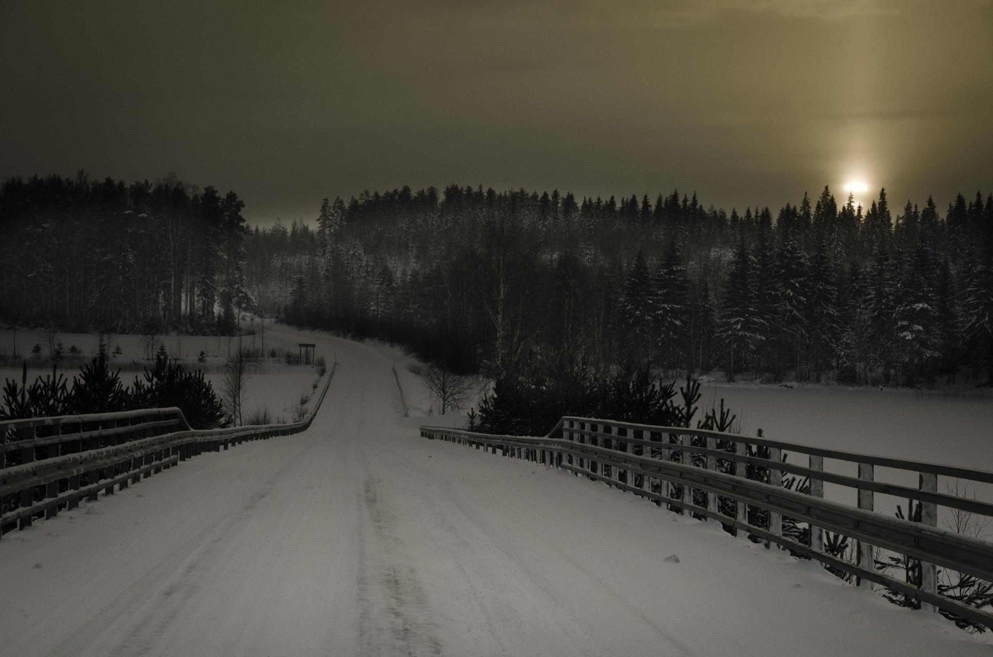 The Moment when Crossing a Bridge by pekka ilari t
