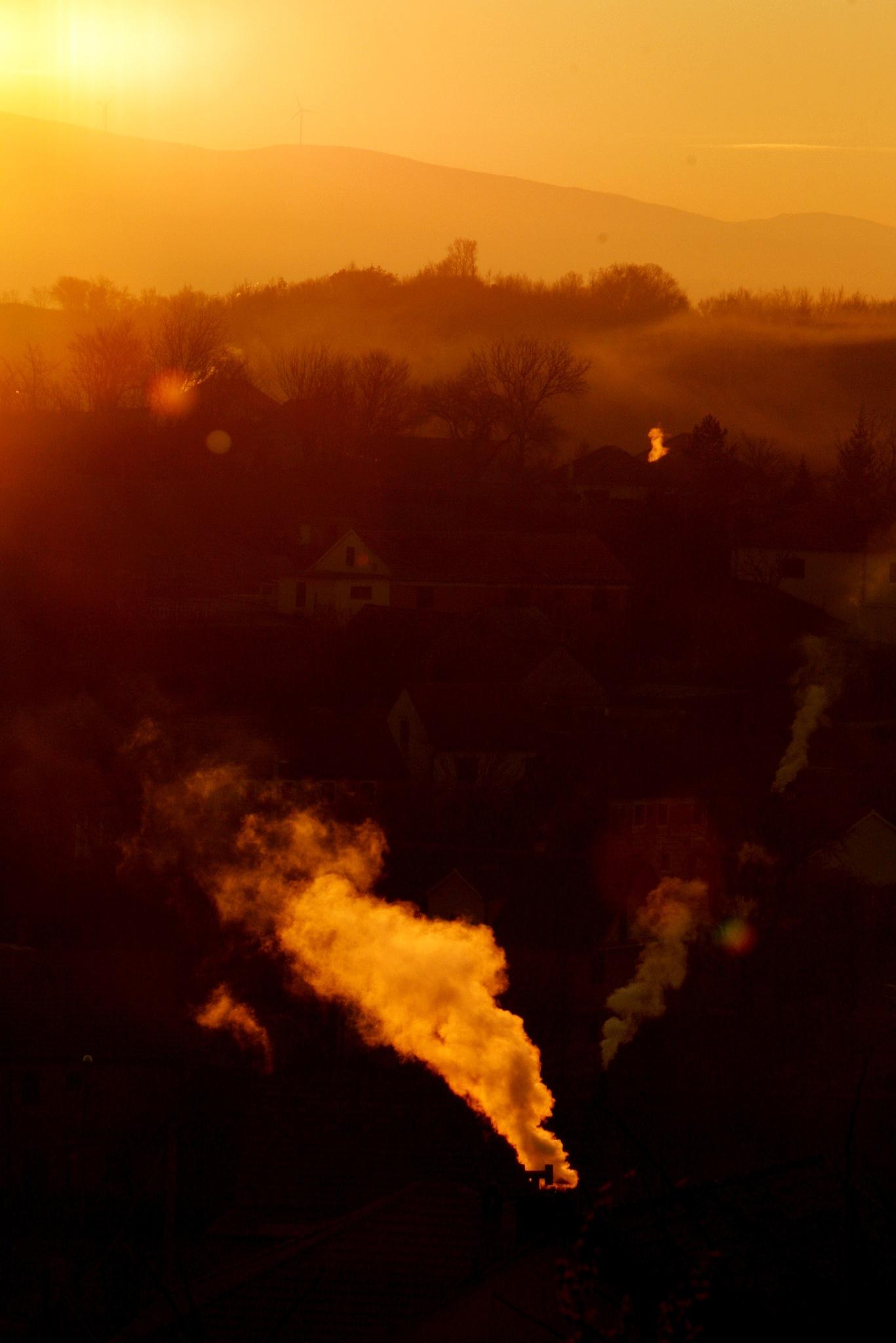 morning chimneys by ivana_poljak