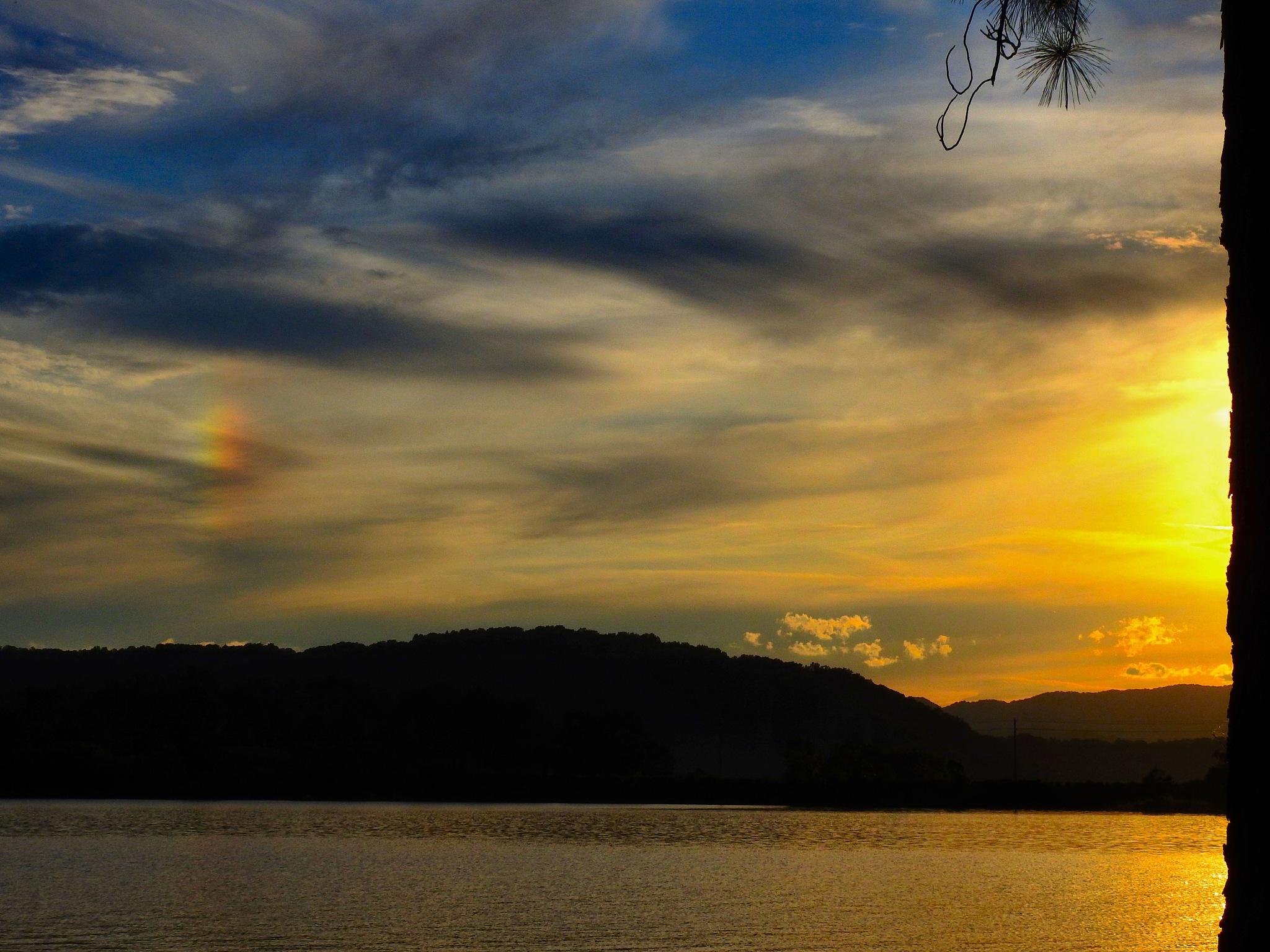 Sunset and Sun Dog by Patty Stockton