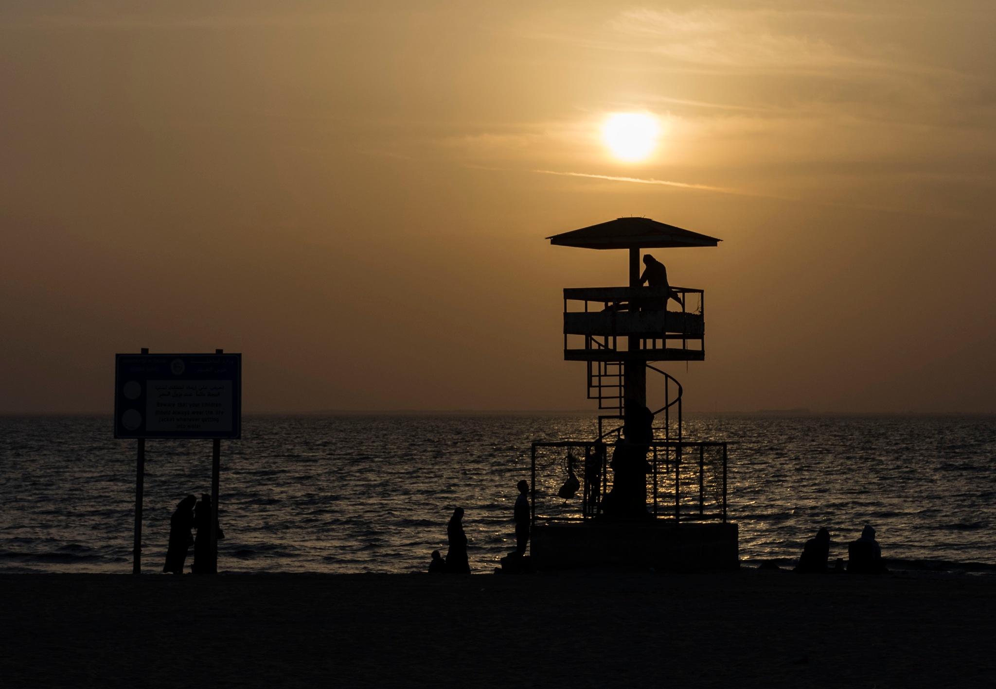 Sun set in Khobar / KSA by Nedim Karabulut