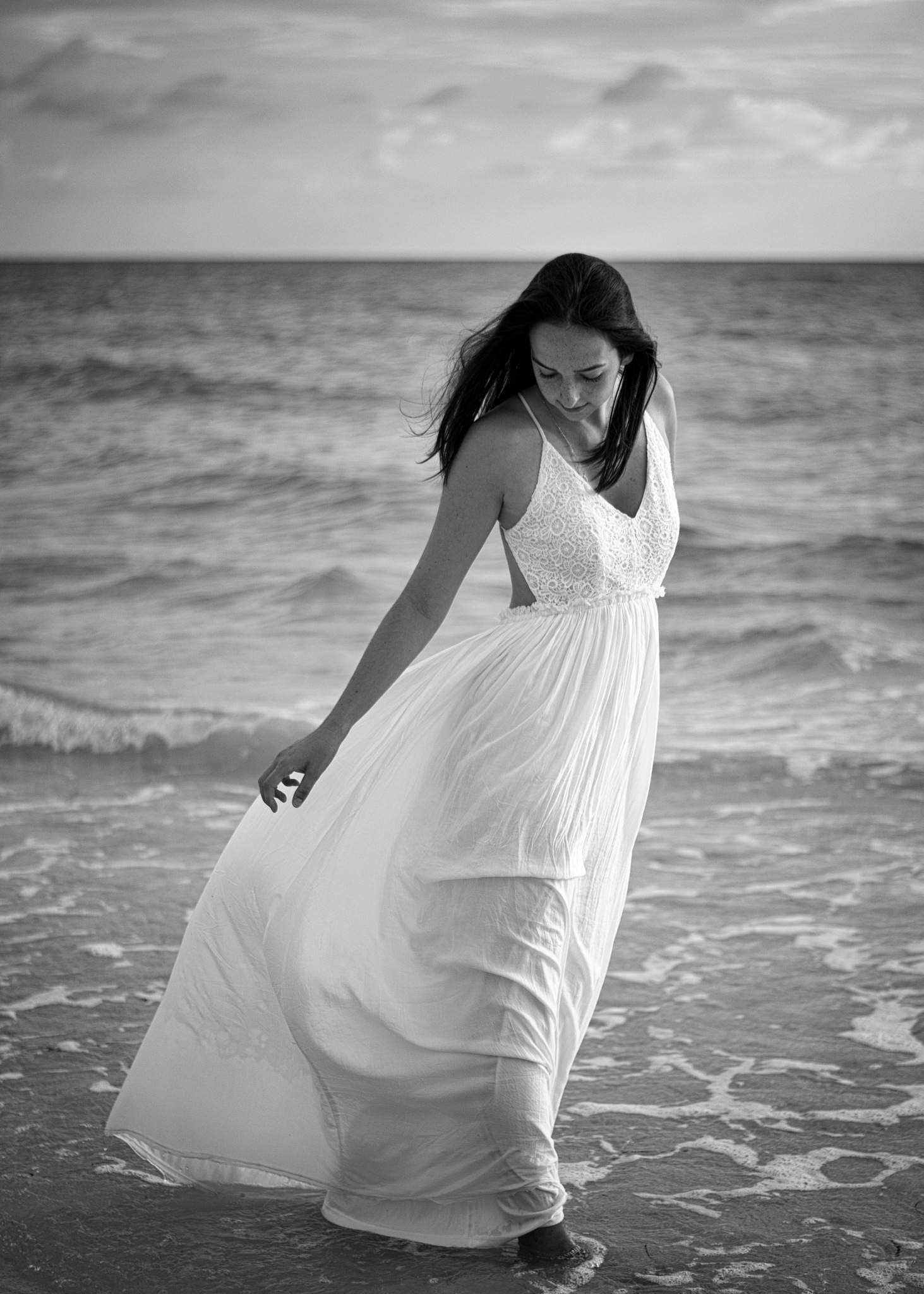 Peyton in the surf.. by Allan Mestel Photography