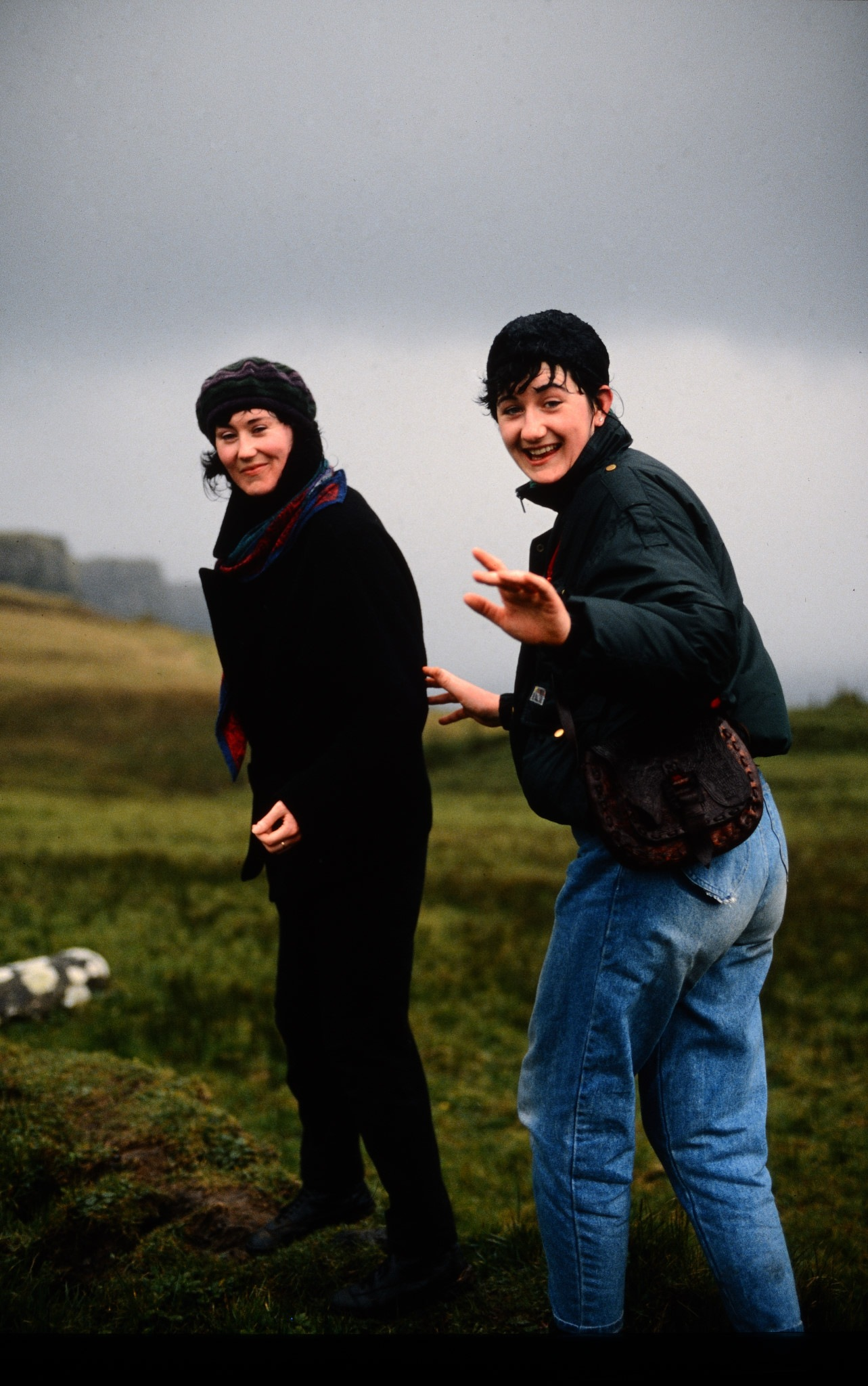 Two Irish gals at the Cliffs of Moher by Frank Fremerey