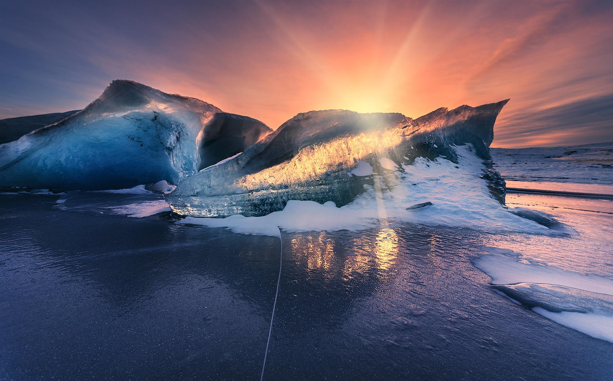 Игра света и льда by Siarhei Mikhaliuk