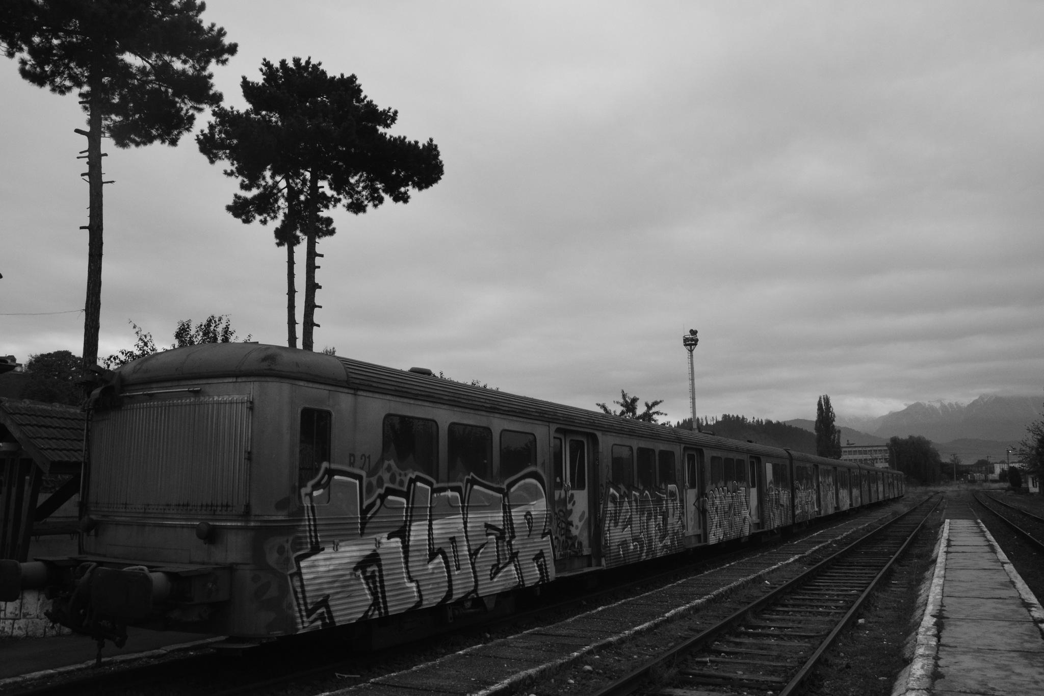 Rasnov Railway Station 5 by GraemeLeePollard