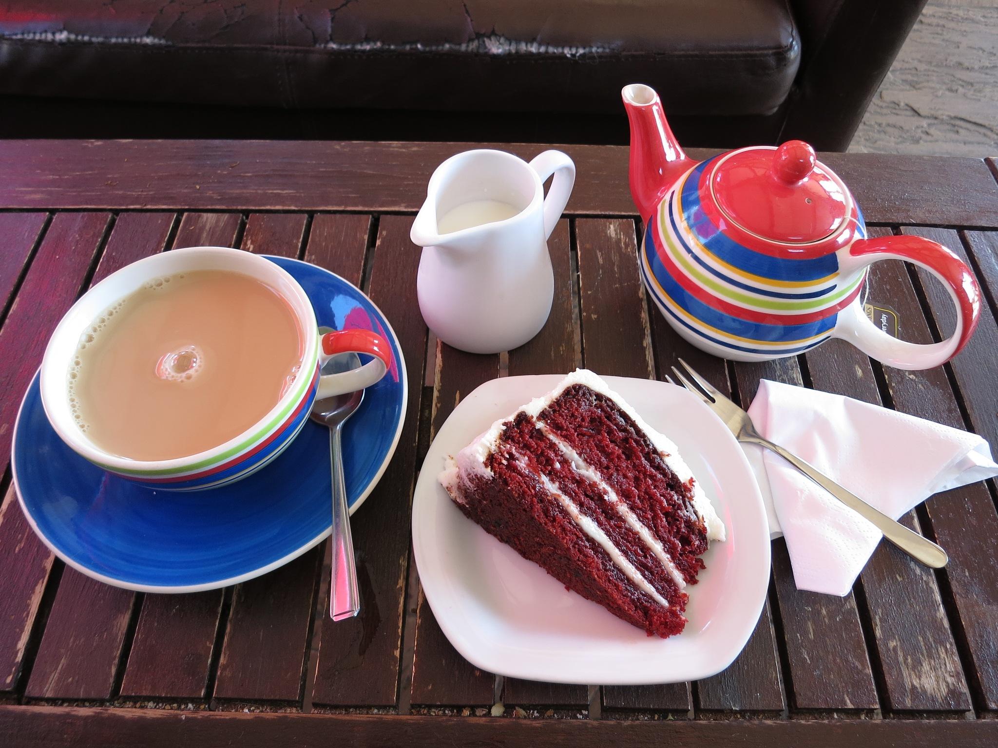 Tea and Red Velvet Cake by GraemeLeePollard