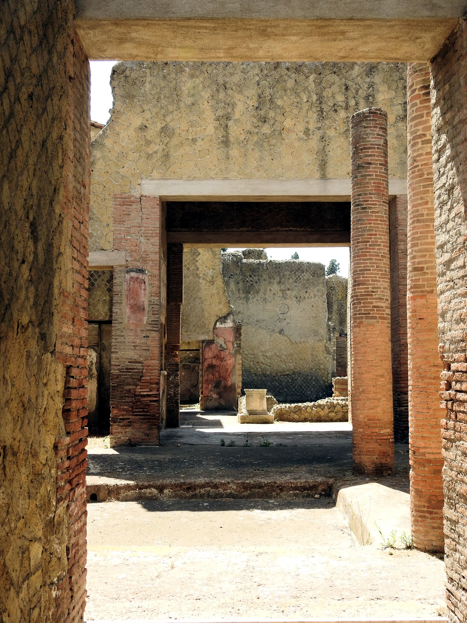 Hercolaneum Ercolano - Bricks and Walls by Arnaldo De Lisio