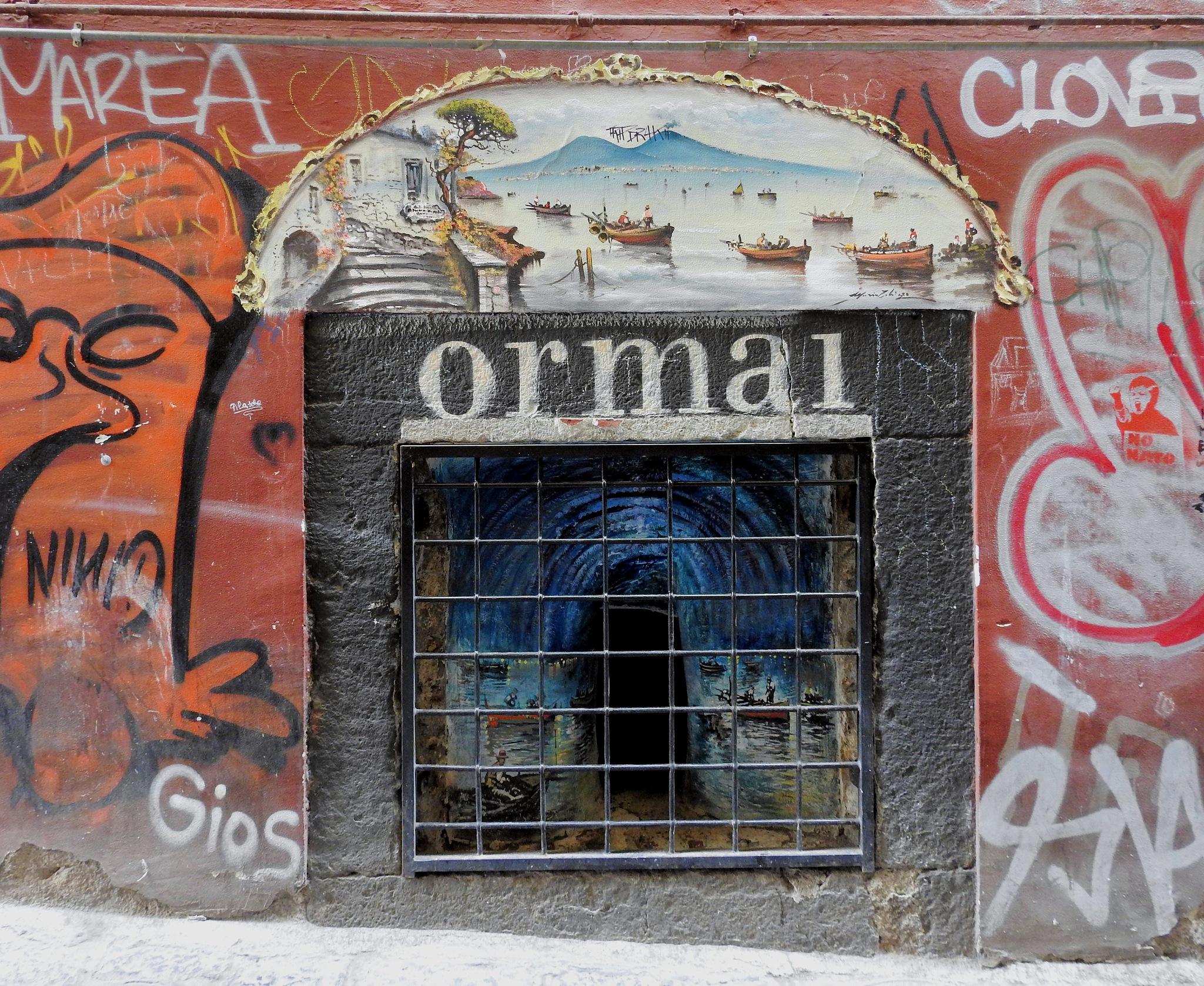 Naples - Street Art - orma1 - 2 by Arnaldo De Lisio