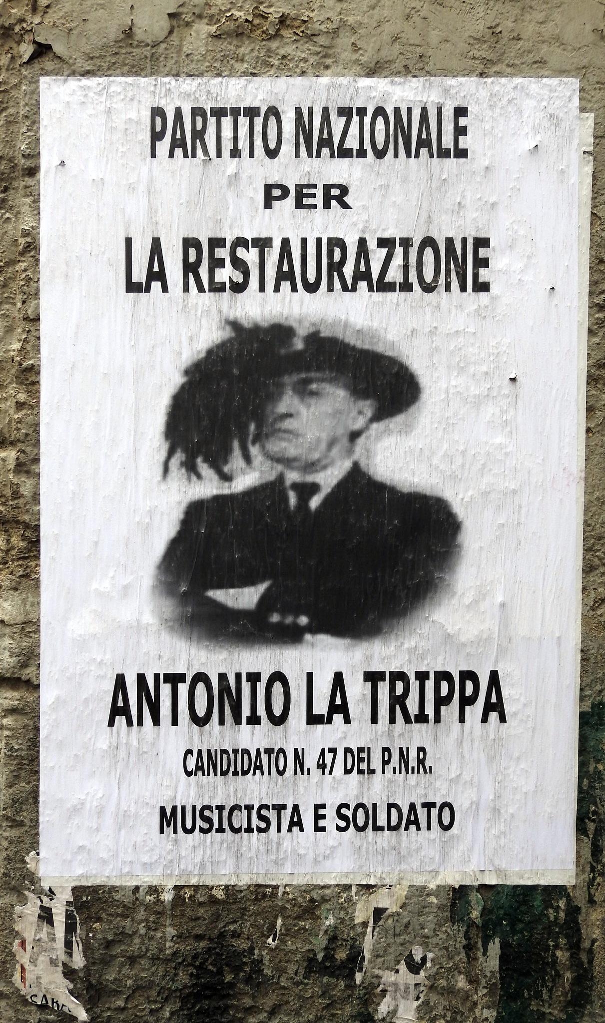 Naples - Street Art - Massimiliano Mantice Project - Italian Movie - Totò           by Arnaldo De Lisio