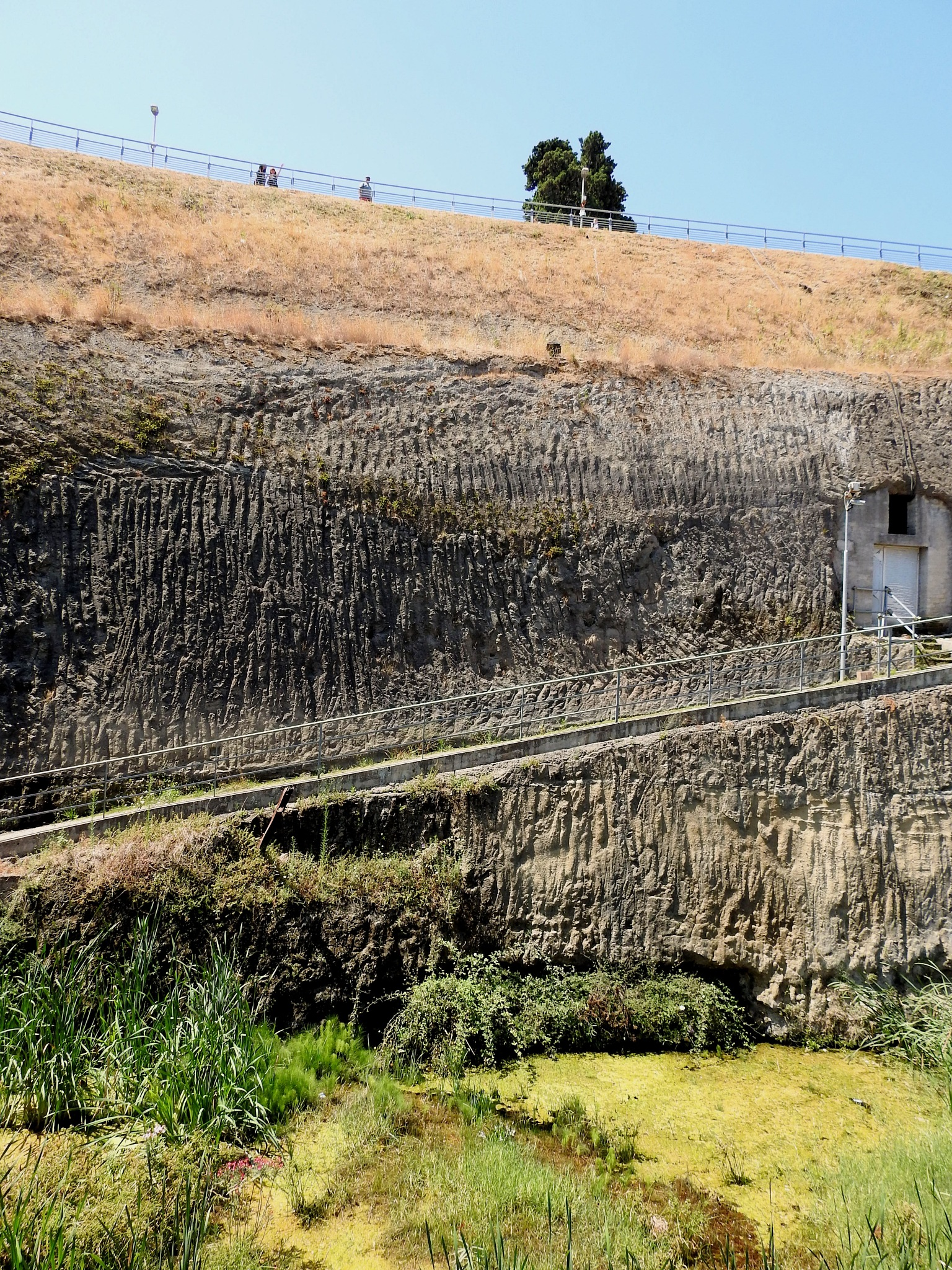 Hercolaneum Ercolano [Naples] - The Lava And Mud Wall - 1 by Arnaldo De Lisio